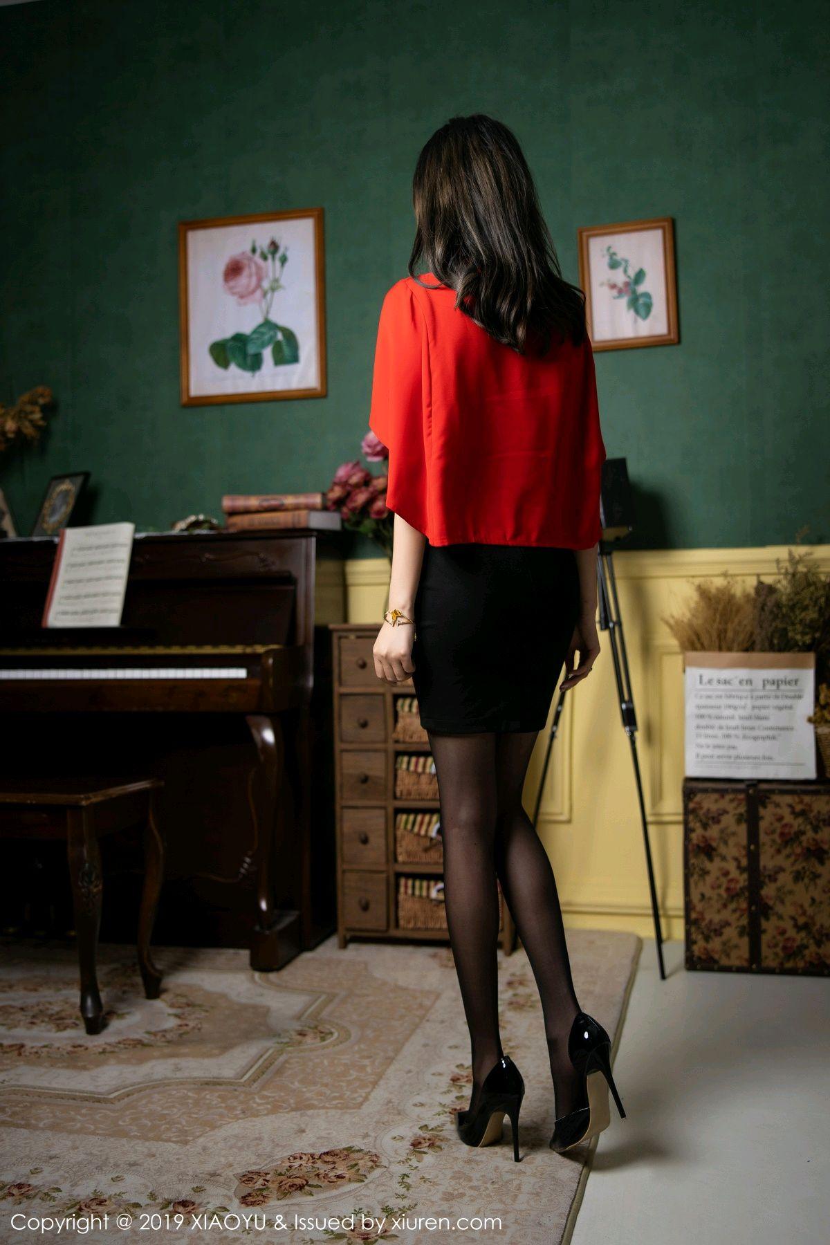 [XiaoYu] Vol.119 Yang Chen Chen 15P, Black Silk, Tall, Temperament, XiaoYu, Yang Chen Chen