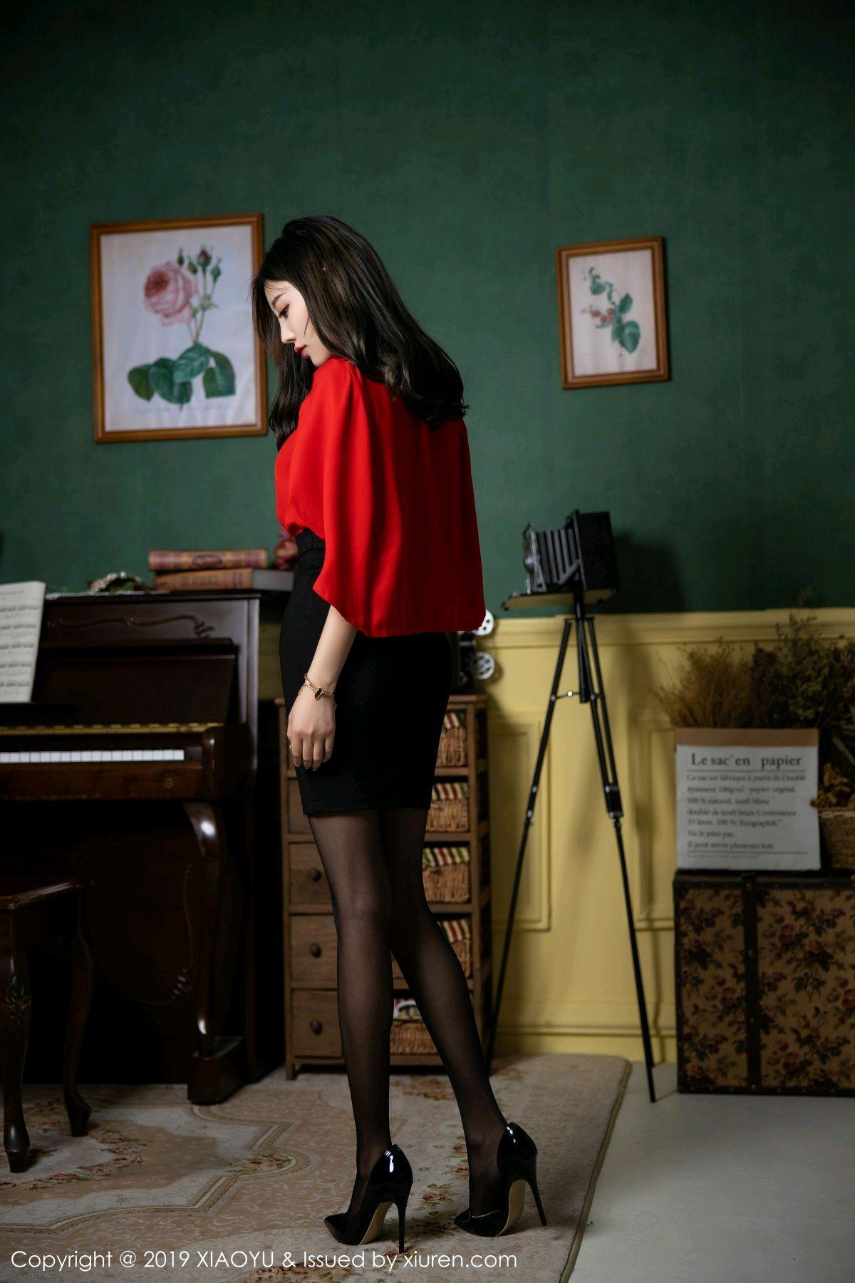 [XiaoYu] Vol.119 Yang Chen Chen 16P, Black Silk, Tall, Temperament, XiaoYu, Yang Chen Chen