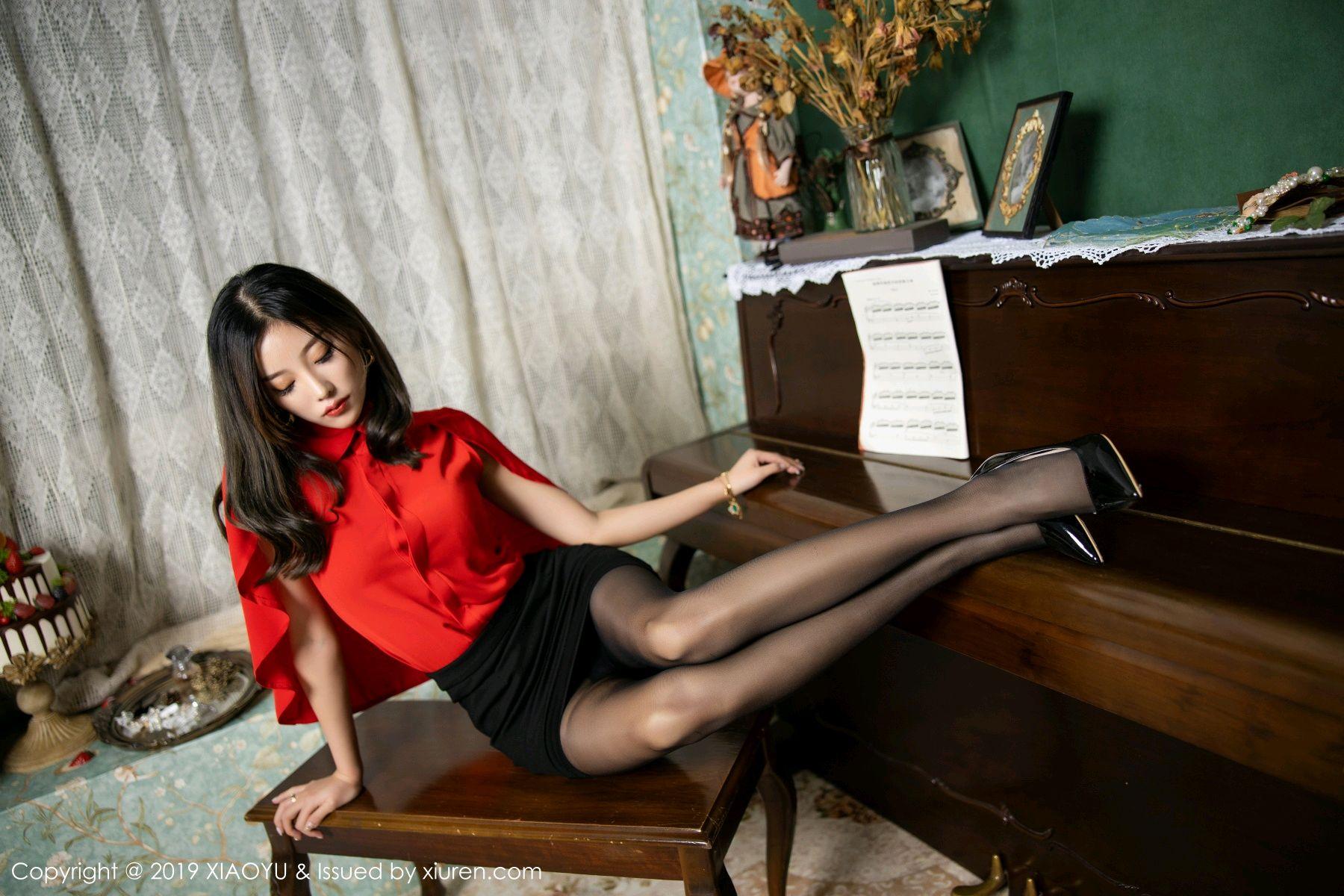 [XiaoYu] Vol.119 Yang Chen Chen 25P, Black Silk, Tall, Temperament, XiaoYu, Yang Chen Chen