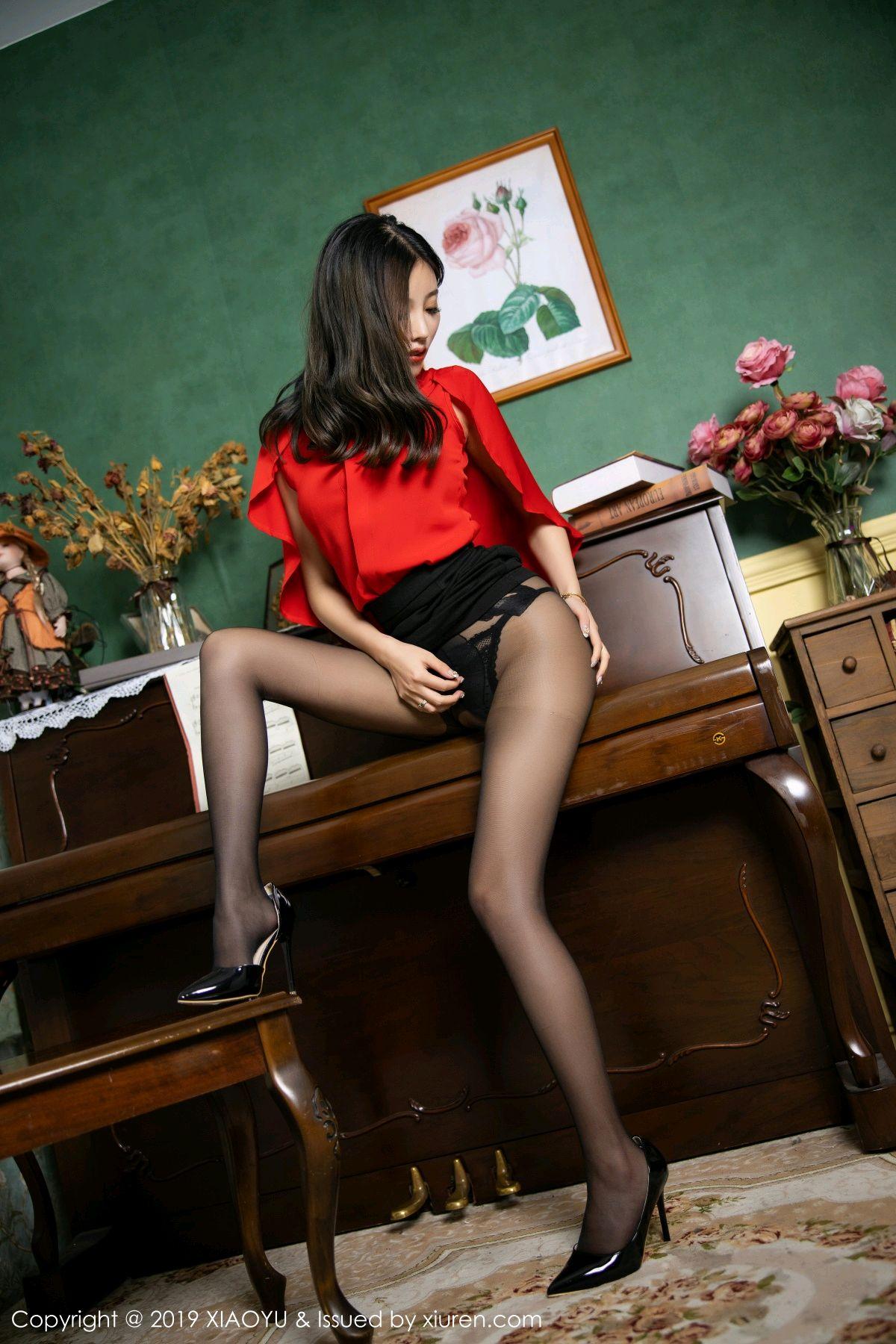 [XiaoYu] Vol.119 Yang Chen Chen 31P, Black Silk, Tall, Temperament, XiaoYu, Yang Chen Chen