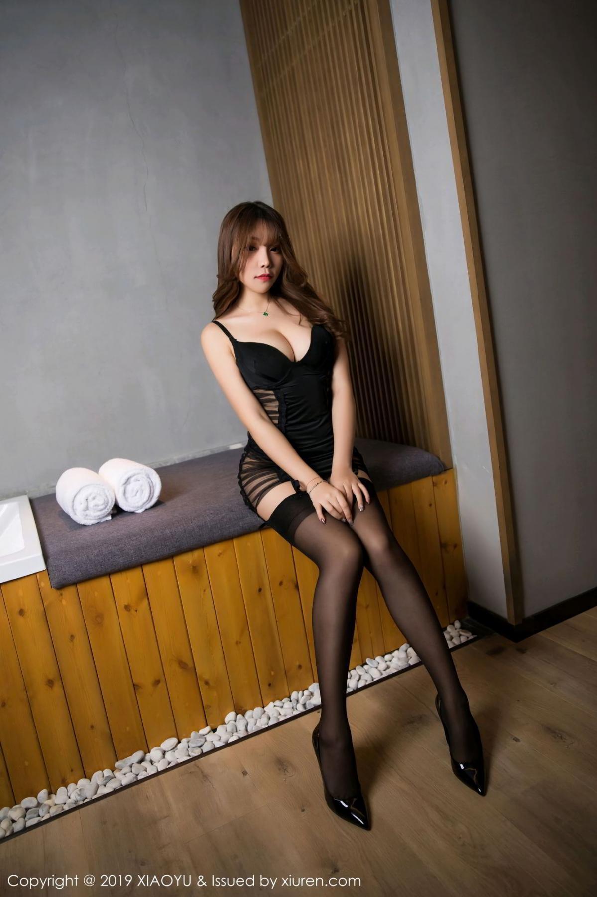 [XiaoYu] Vol.128 Chen Zhi 5P, Black Silk, Chen Zhi, Tall, Underwear, XiaoYu