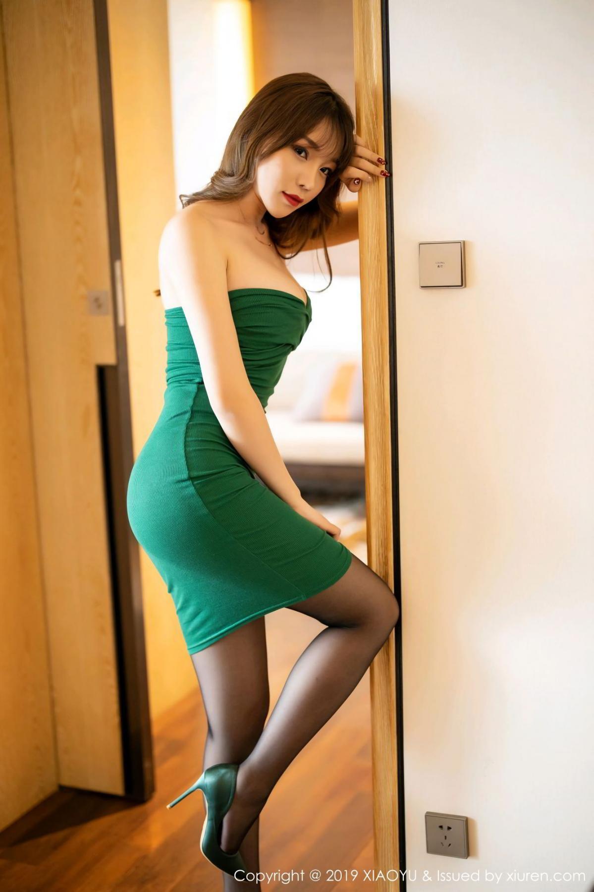 [XiaoYu] Vol.130 Chen Zhi 10P, Black Silk, Chen Zhi, Tall, Underwear, XiaoYu
