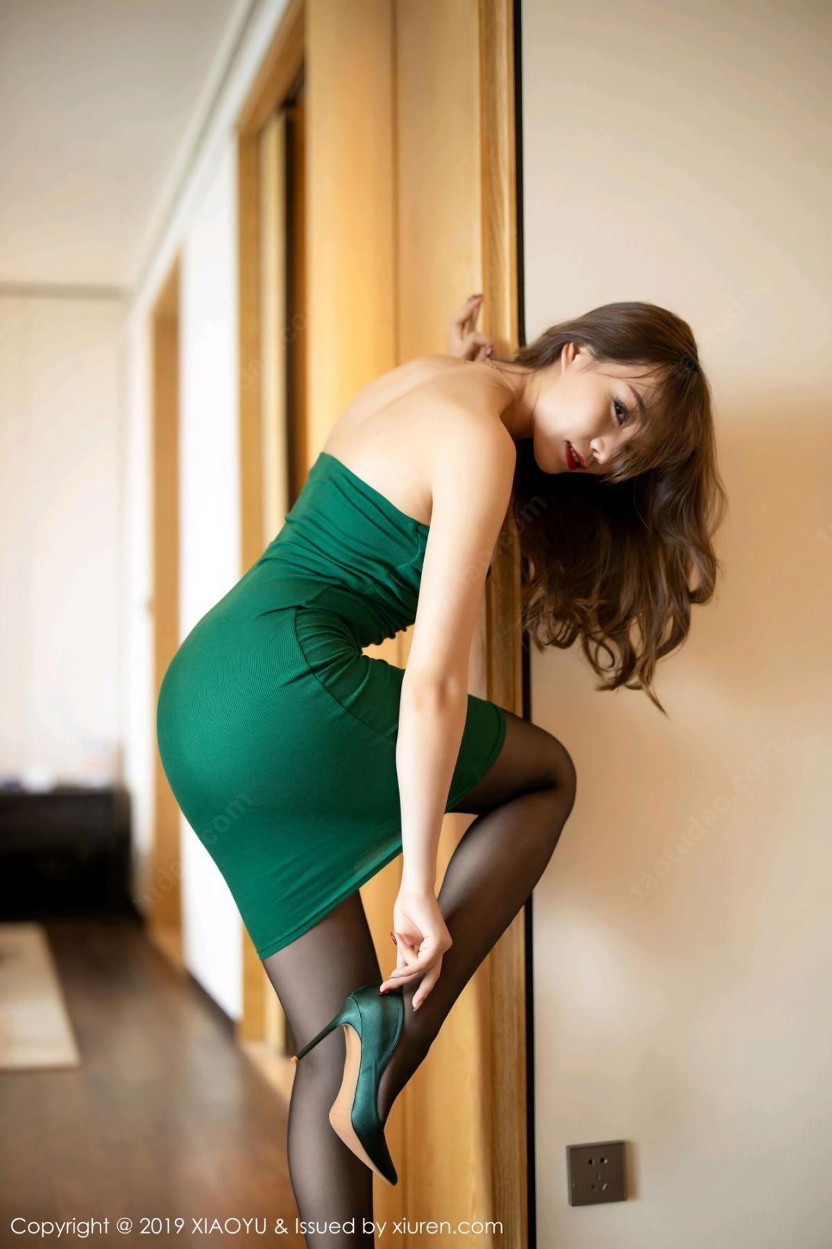 [XiaoYu] Vol.130 Chen Zhi 13P, Black Silk, Chen Zhi, Tall, Underwear, XiaoYu