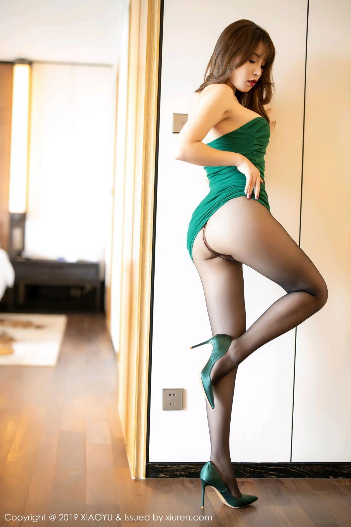[XiaoYu] Vol.130 Chen Zhi 15P, Black Silk, Chen Zhi, Tall, Underwear, XiaoYu