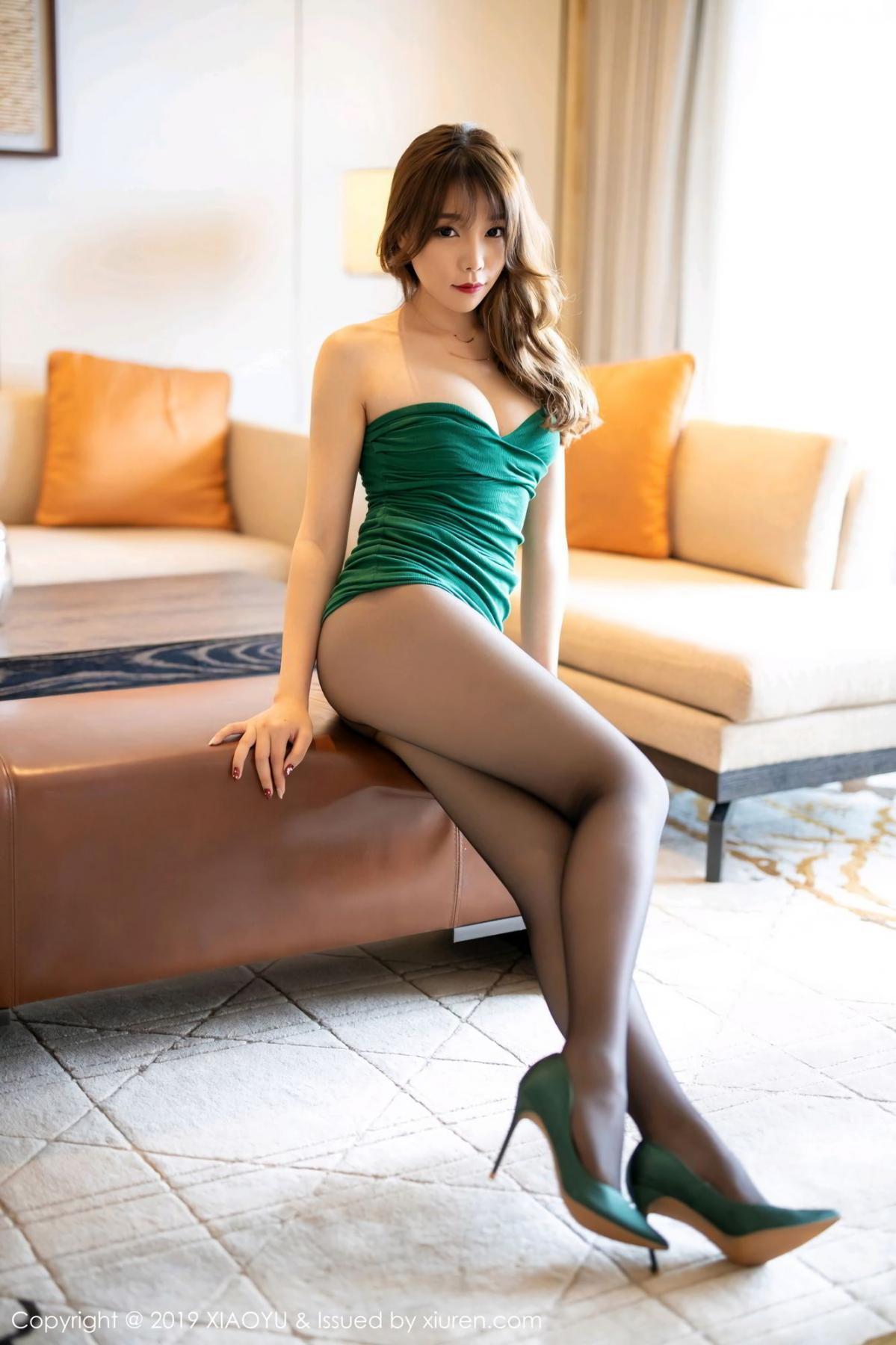 [XiaoYu] Vol.130 Chen Zhi 20P, Black Silk, Chen Zhi, Tall, Underwear, XiaoYu