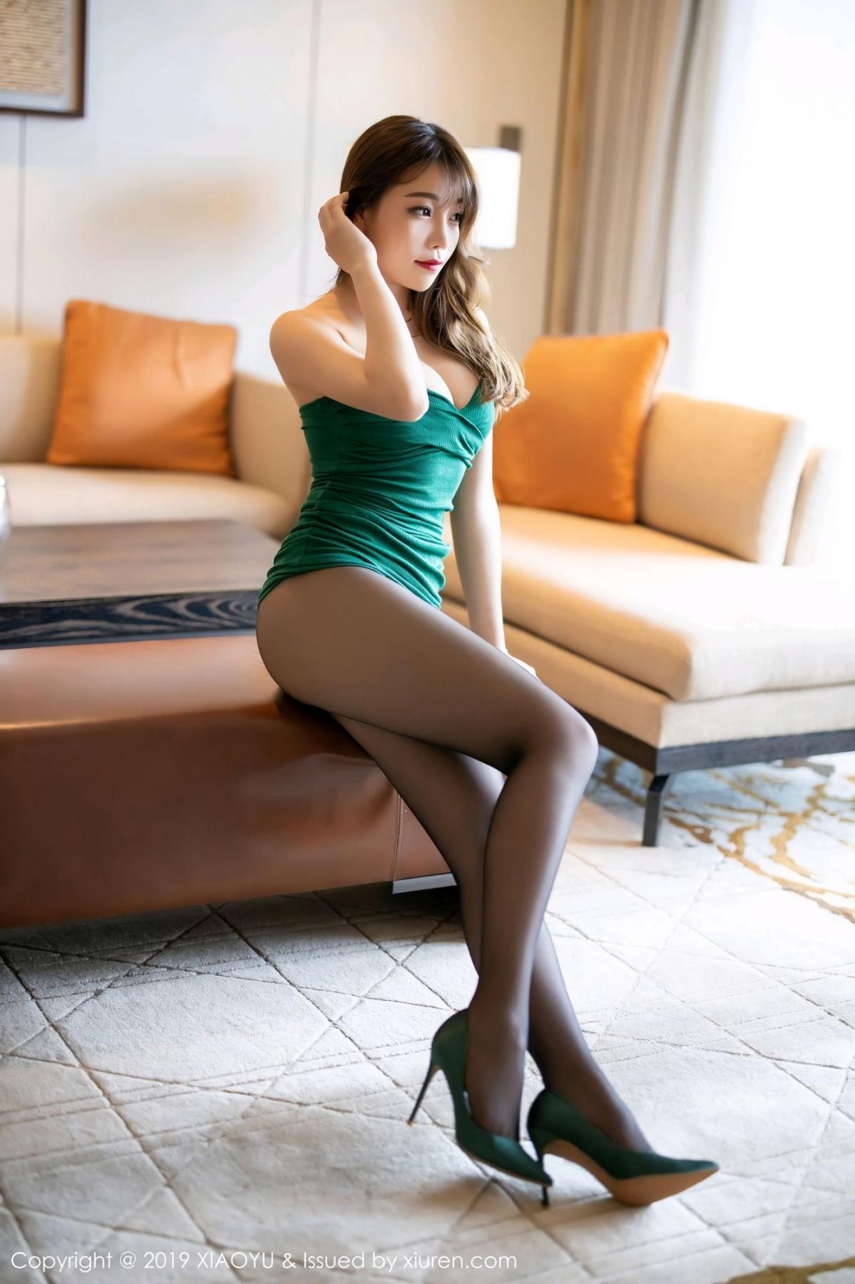 [XiaoYu] Vol.130 Chen Zhi 22P, Black Silk, Chen Zhi, Tall, Underwear, XiaoYu