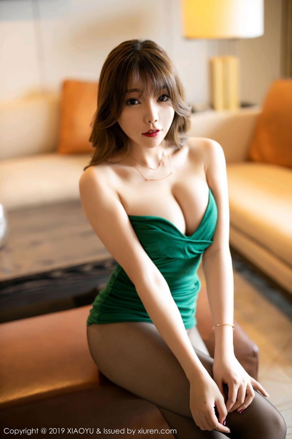 [XiaoYu] Vol.130 Chen Zhi 24P, Black Silk, Chen Zhi, Tall, Underwear, XiaoYu