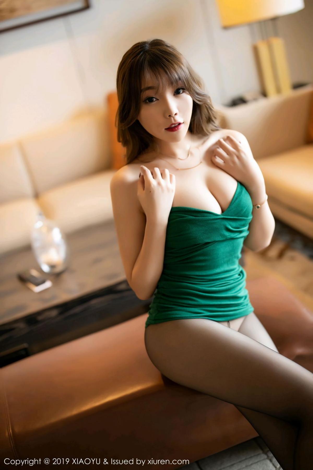 [XiaoYu] Vol.130 Chen Zhi 25P, Black Silk, Chen Zhi, Tall, Underwear, XiaoYu