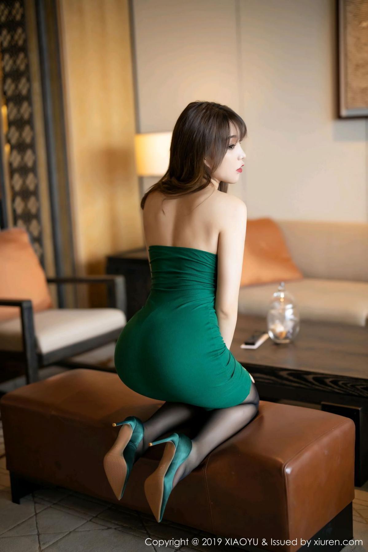 [XiaoYu] Vol.130 Chen Zhi 28P, Black Silk, Chen Zhi, Tall, Underwear, XiaoYu