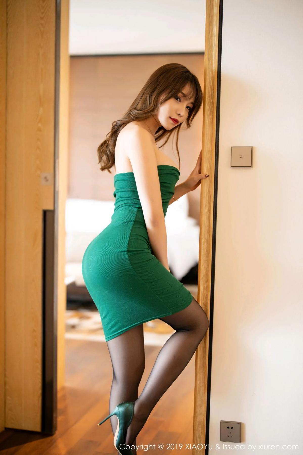 [XiaoYu] Vol.130 Chen Zhi 2P, Black Silk, Chen Zhi, Tall, Underwear, XiaoYu