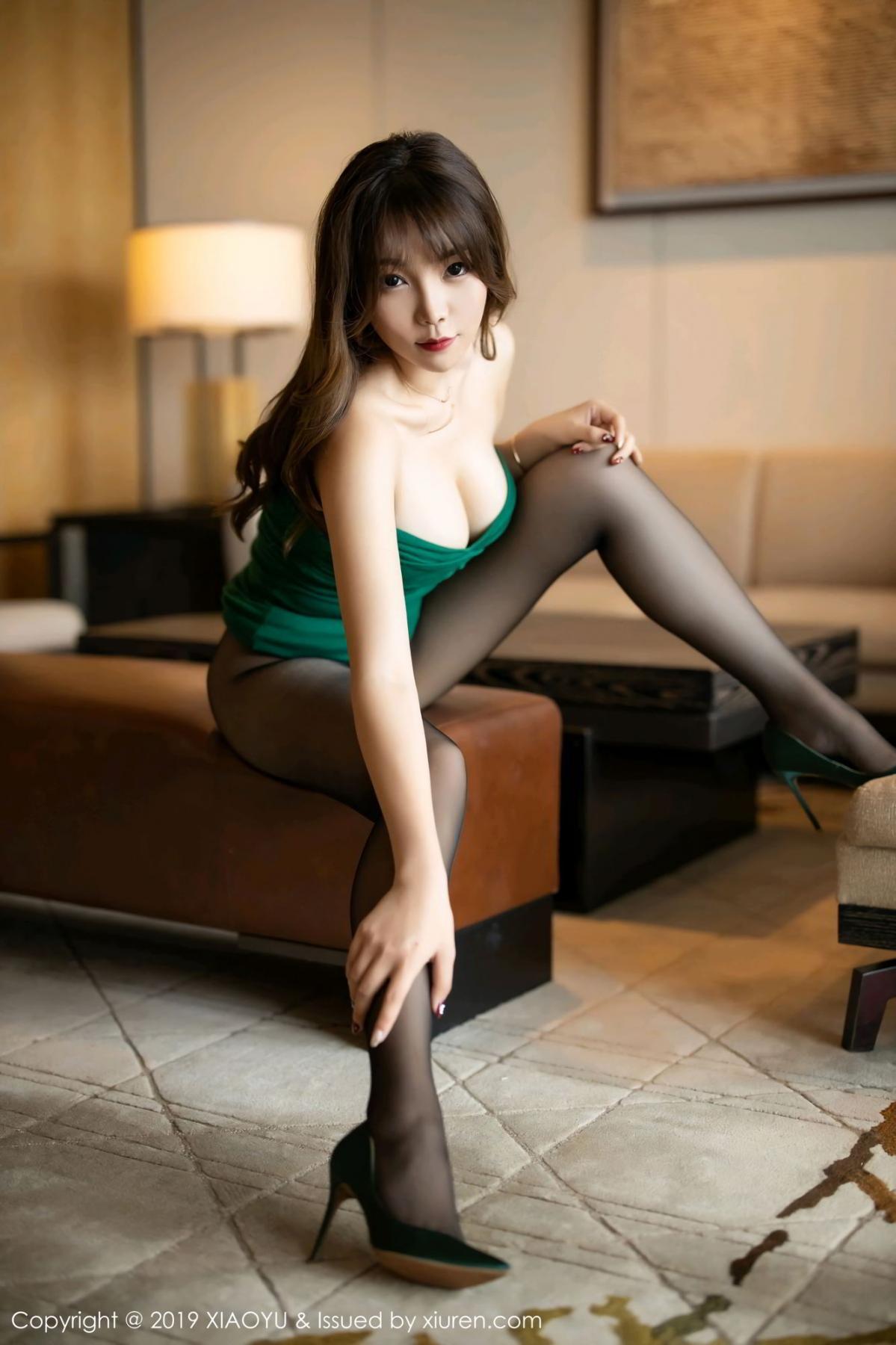 [XiaoYu] Vol.130 Chen Zhi 38P, Black Silk, Chen Zhi, Tall, Underwear, XiaoYu