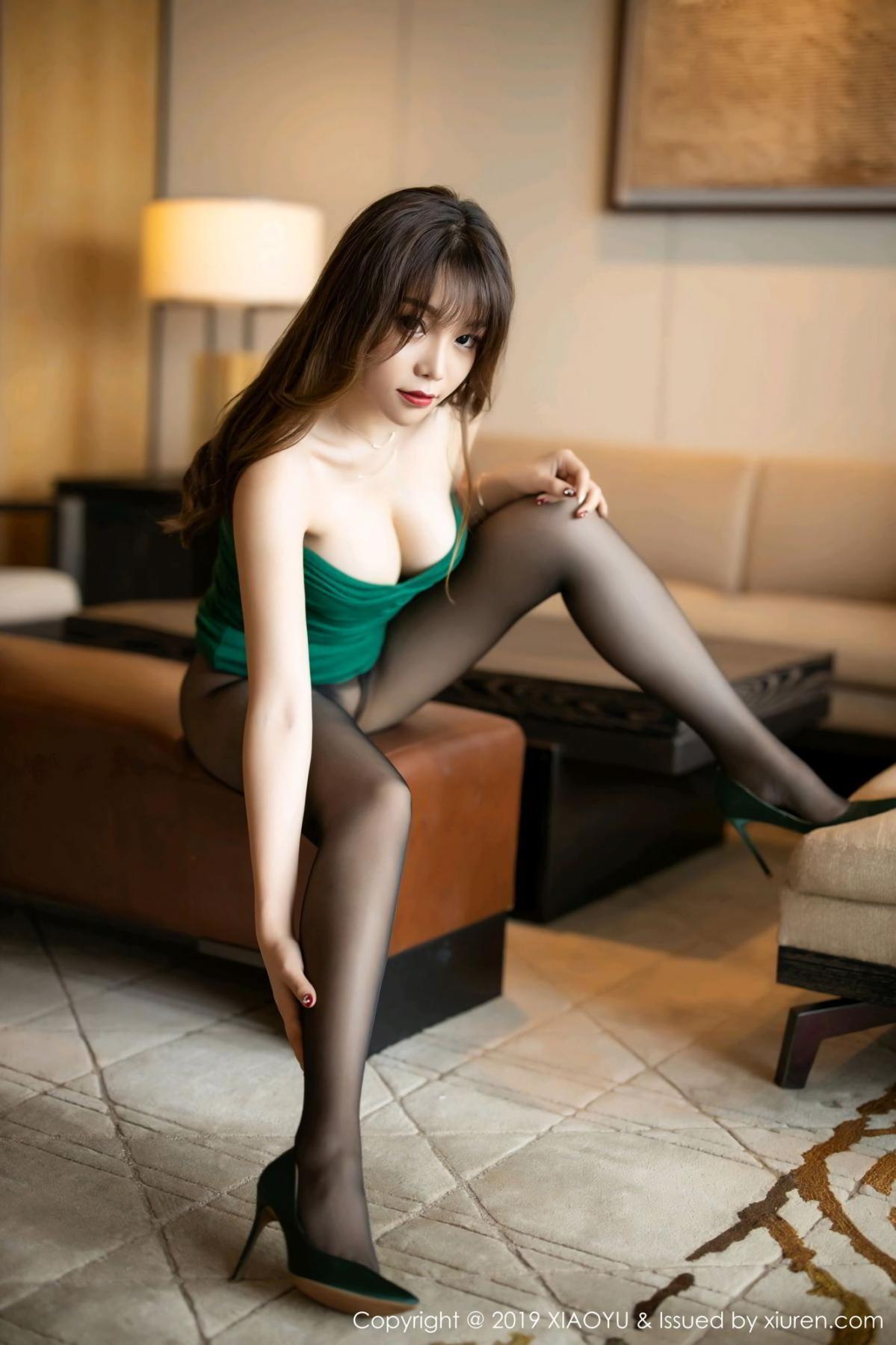 [XiaoYu] Vol.130 Chen Zhi 39P, Black Silk, Chen Zhi, Tall, Underwear, XiaoYu