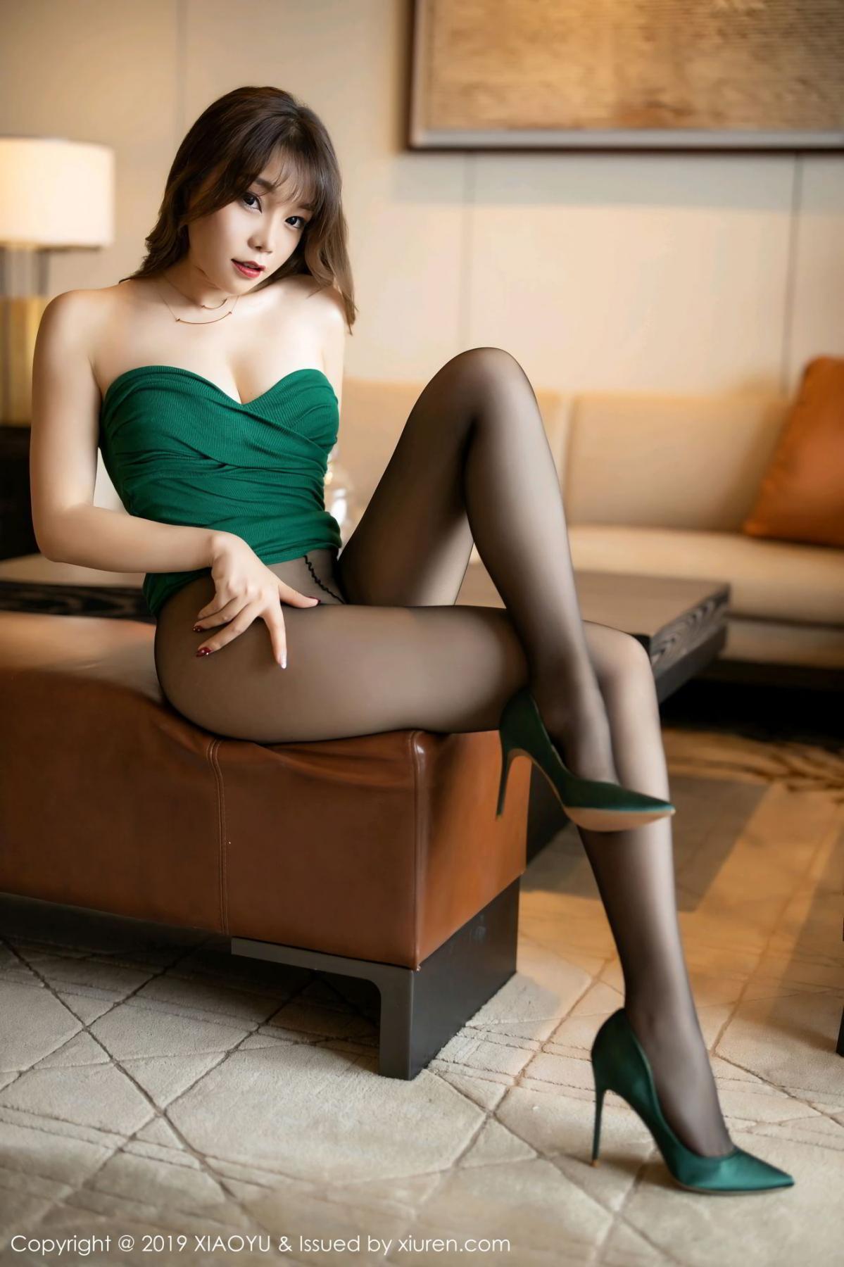 [XiaoYu] Vol.130 Chen Zhi 41P, Black Silk, Chen Zhi, Tall, Underwear, XiaoYu