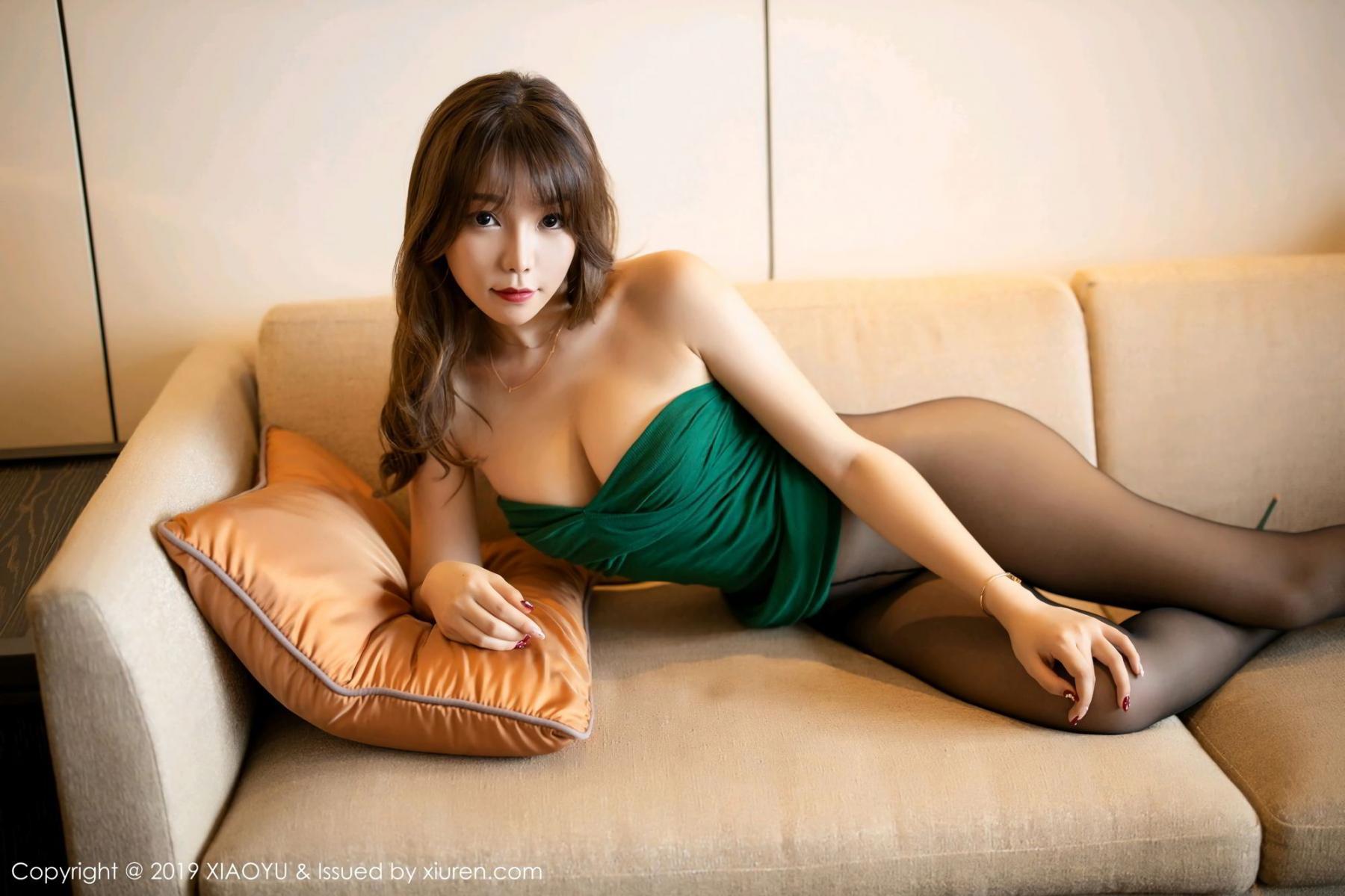 [XiaoYu] Vol.130 Chen Zhi 44P, Black Silk, Chen Zhi, Tall, Underwear, XiaoYu
