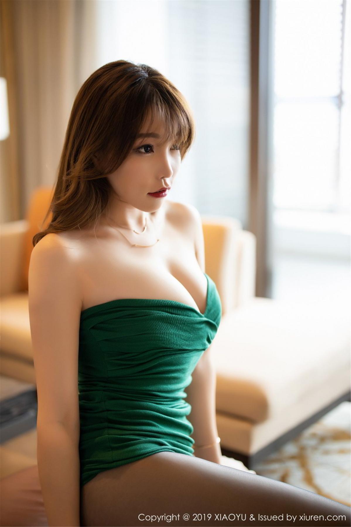 [XiaoYu] Vol.130 Chen Zhi 45P, Black Silk, Chen Zhi, Tall, Underwear, XiaoYu