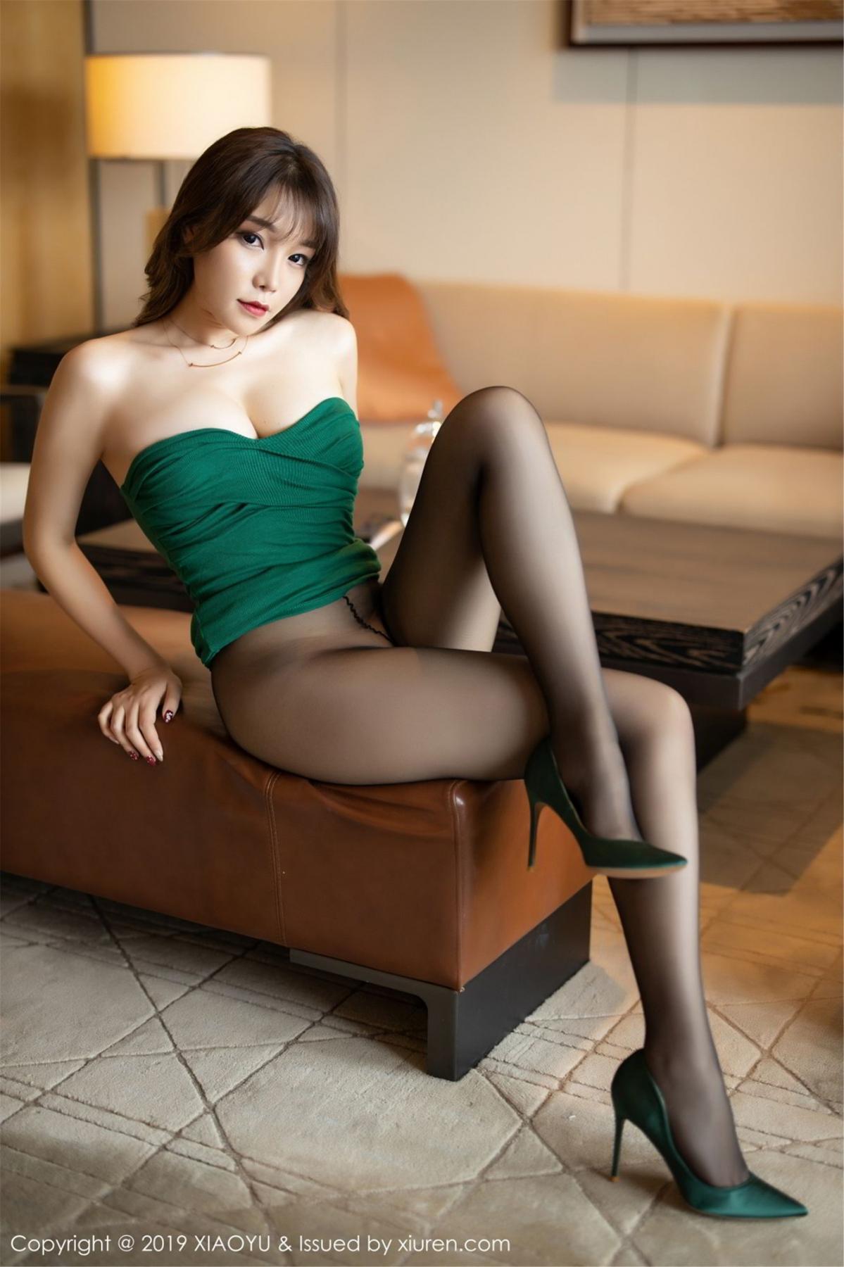[XiaoYu] Vol.130 Chen Zhi 48P, Black Silk, Chen Zhi, Tall, Underwear, XiaoYu