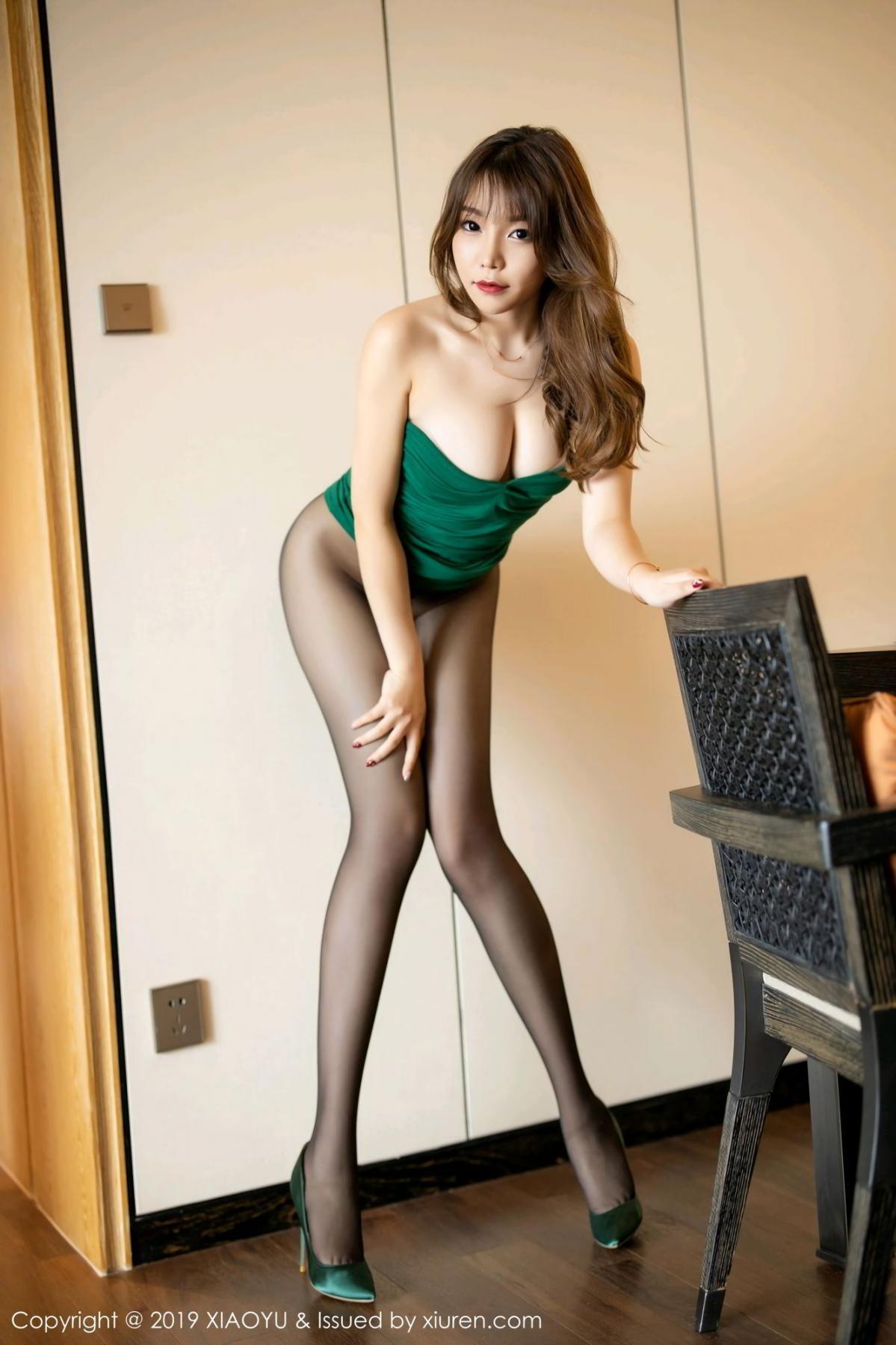[XiaoYu] Vol.130 Chen Zhi 4P, Black Silk, Chen Zhi, Tall, Underwear, XiaoYu