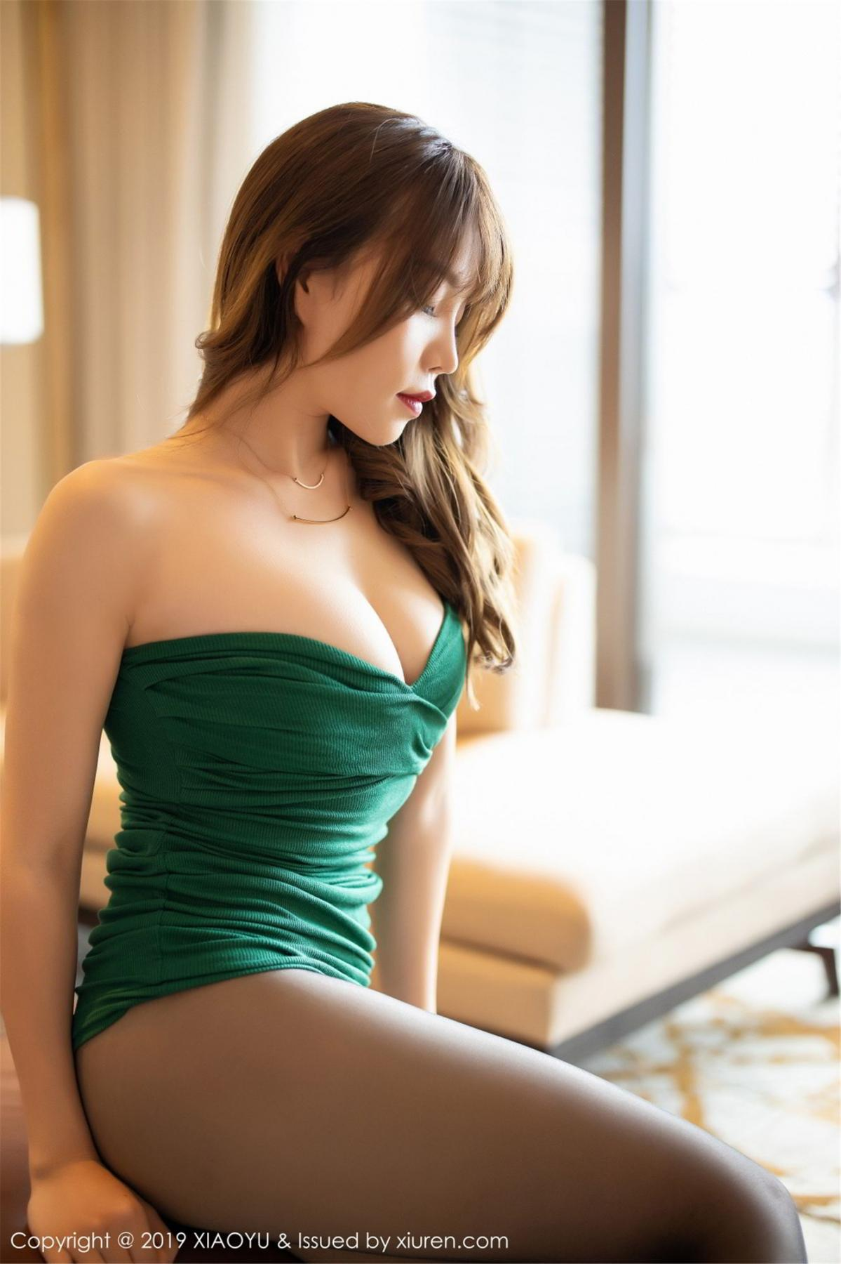 [XiaoYu] Vol.130 Chen Zhi 51P, Black Silk, Chen Zhi, Tall, Underwear, XiaoYu