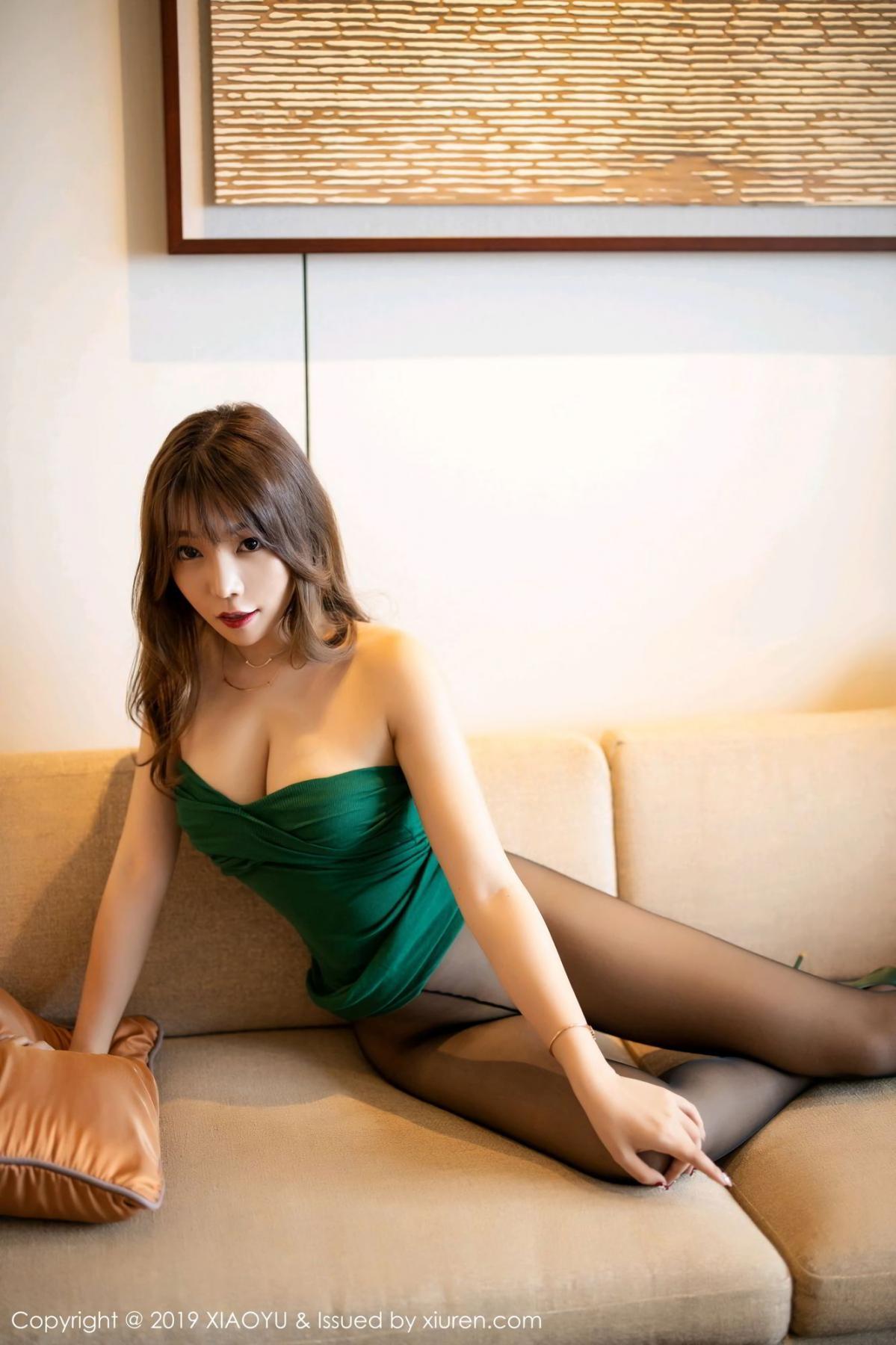 [XiaoYu] Vol.130 Chen Zhi 53P, Black Silk, Chen Zhi, Tall, Underwear, XiaoYu