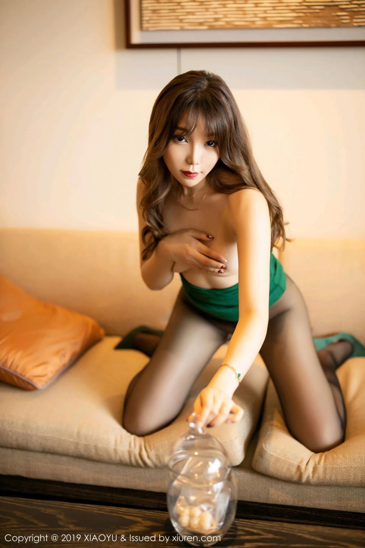 [XiaoYu] Vol.130 Chen Zhi 59P, Black Silk, Chen Zhi, Tall, Underwear, XiaoYu
