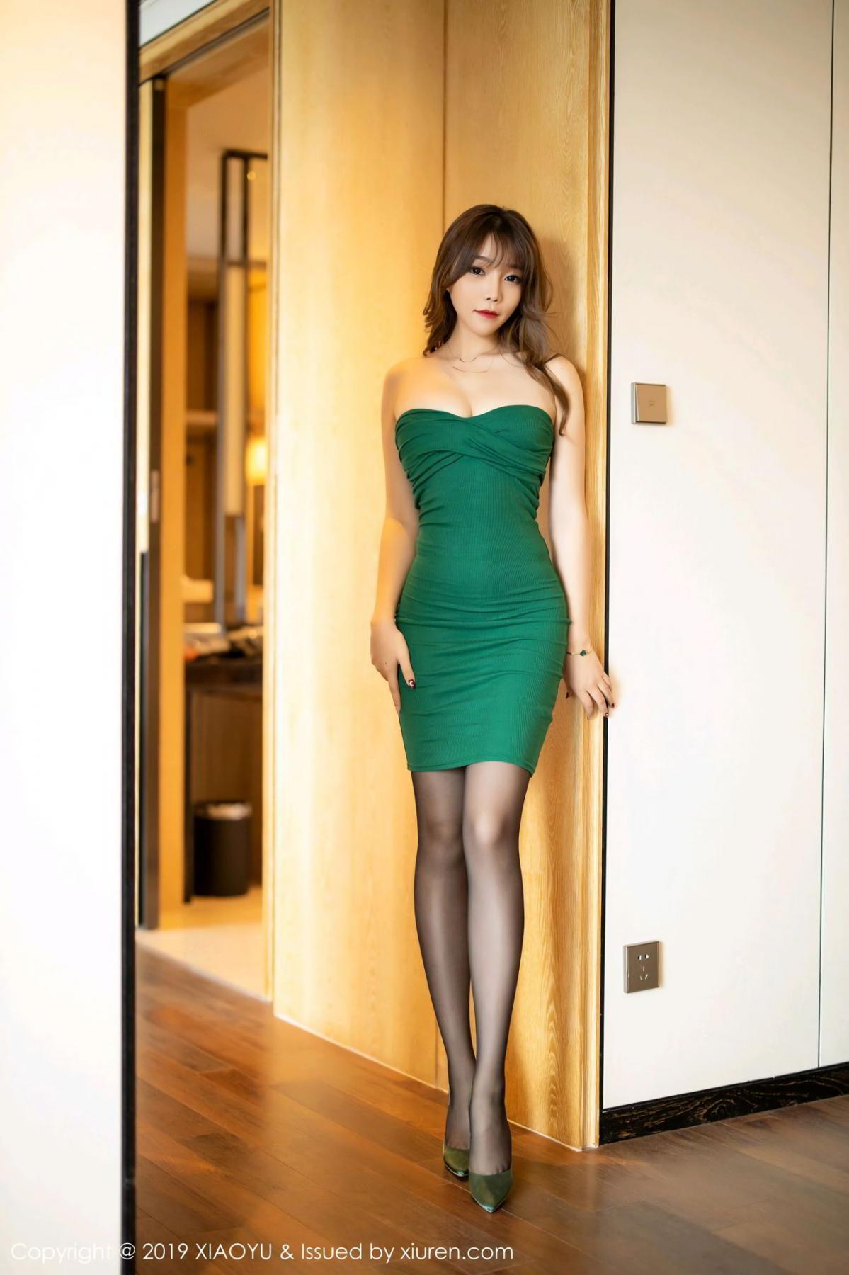 [XiaoYu] Vol.130 Chen Zhi 6P, Black Silk, Chen Zhi, Tall, Underwear, XiaoYu