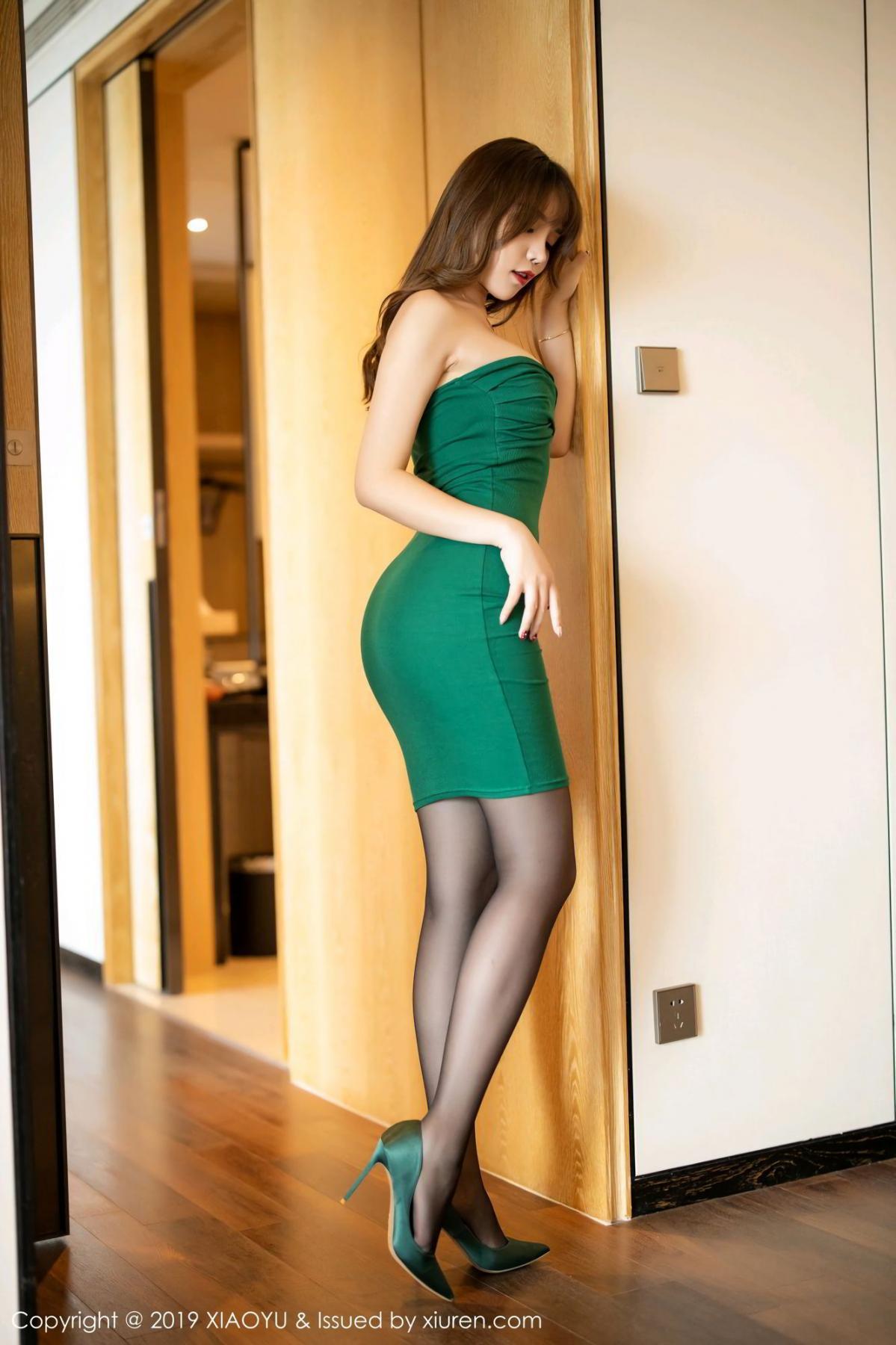 [XiaoYu] Vol.130 Chen Zhi 8P, Black Silk, Chen Zhi, Tall, Underwear, XiaoYu