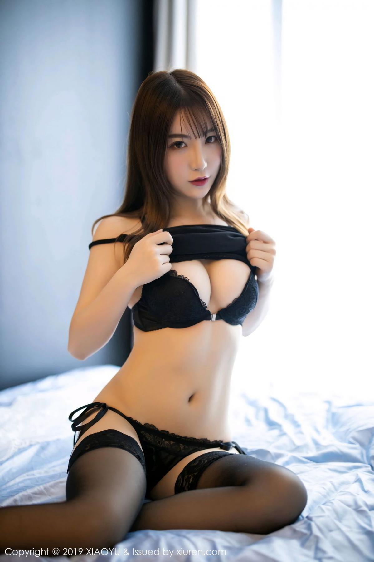 [XiaoYu] Vol.133 Xie Zhi Xin 16P, Black Silk, Tall, XiaoYu, Xie Zhi Xin