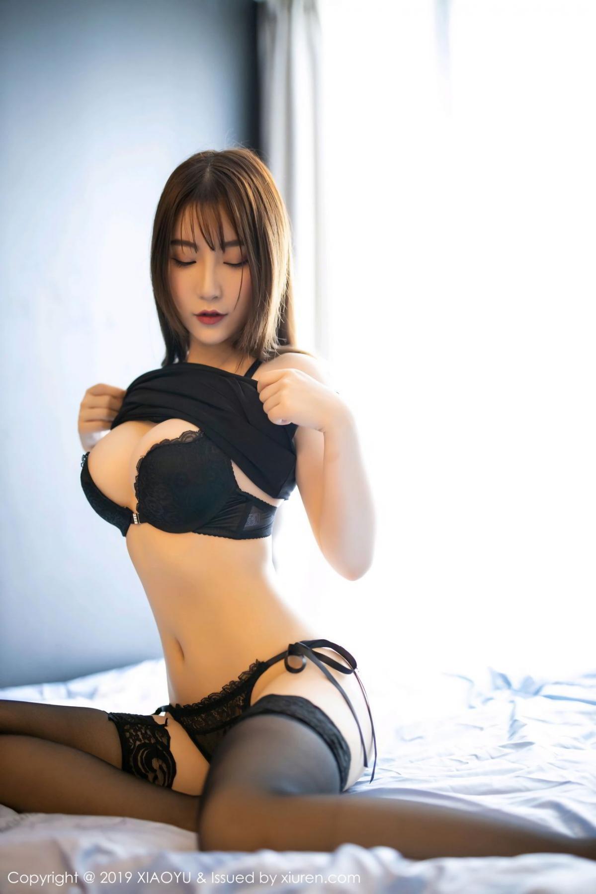 [XiaoYu] Vol.133 Xie Zhi Xin 18P, Black Silk, Tall, XiaoYu, Xie Zhi Xin