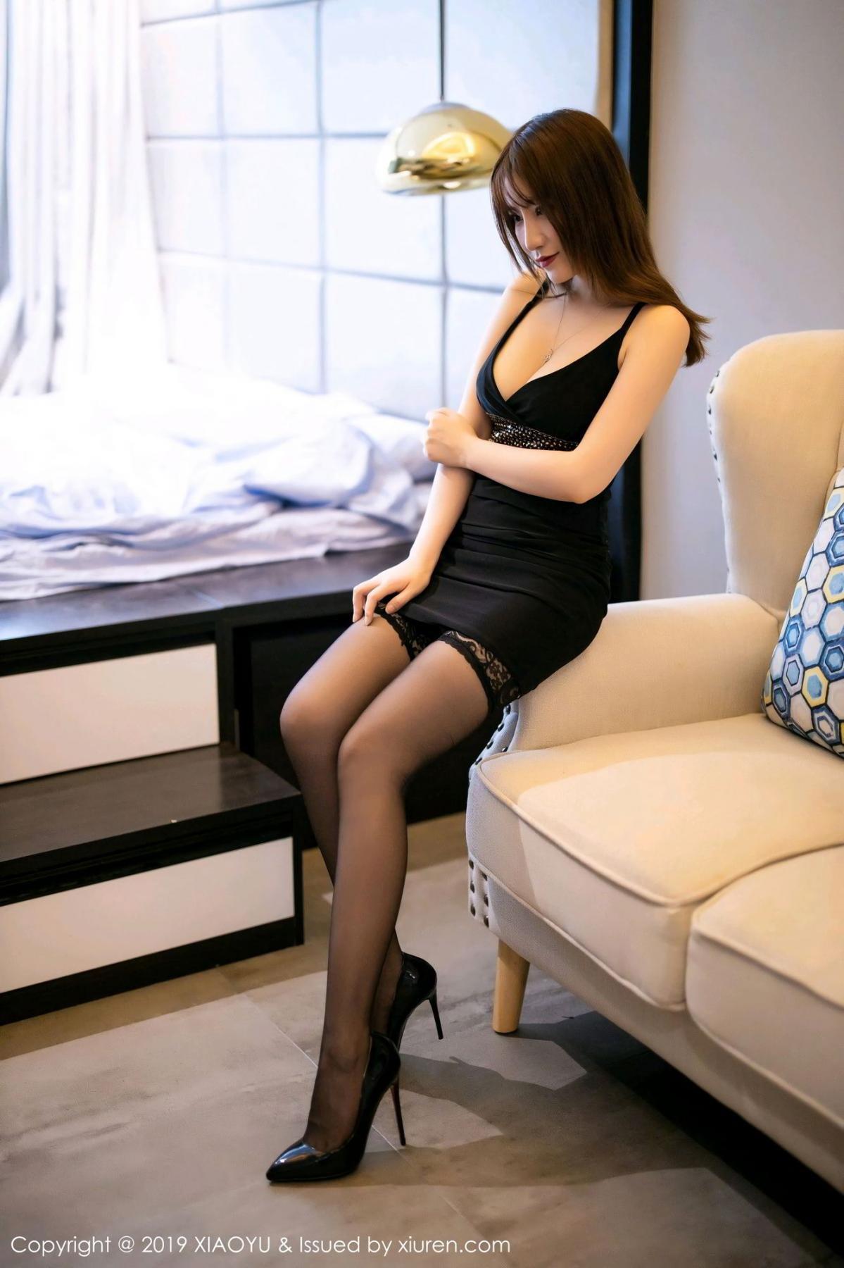 [XiaoYu] Vol.133 Xie Zhi Xin 1P, Black Silk, Tall, XiaoYu, Xie Zhi Xin