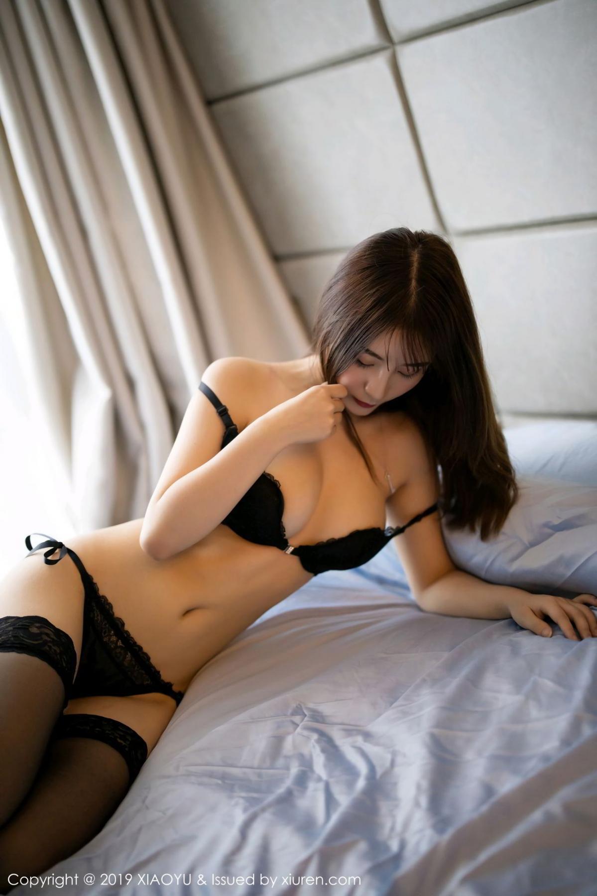 [XiaoYu] Vol.133 Xie Zhi Xin 28P, Black Silk, Tall, XiaoYu, Xie Zhi Xin