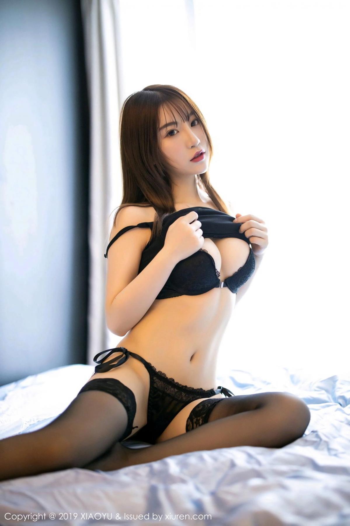 [XiaoYu] Vol.133 Xie Zhi Xin 3P, Black Silk, Tall, XiaoYu, Xie Zhi Xin