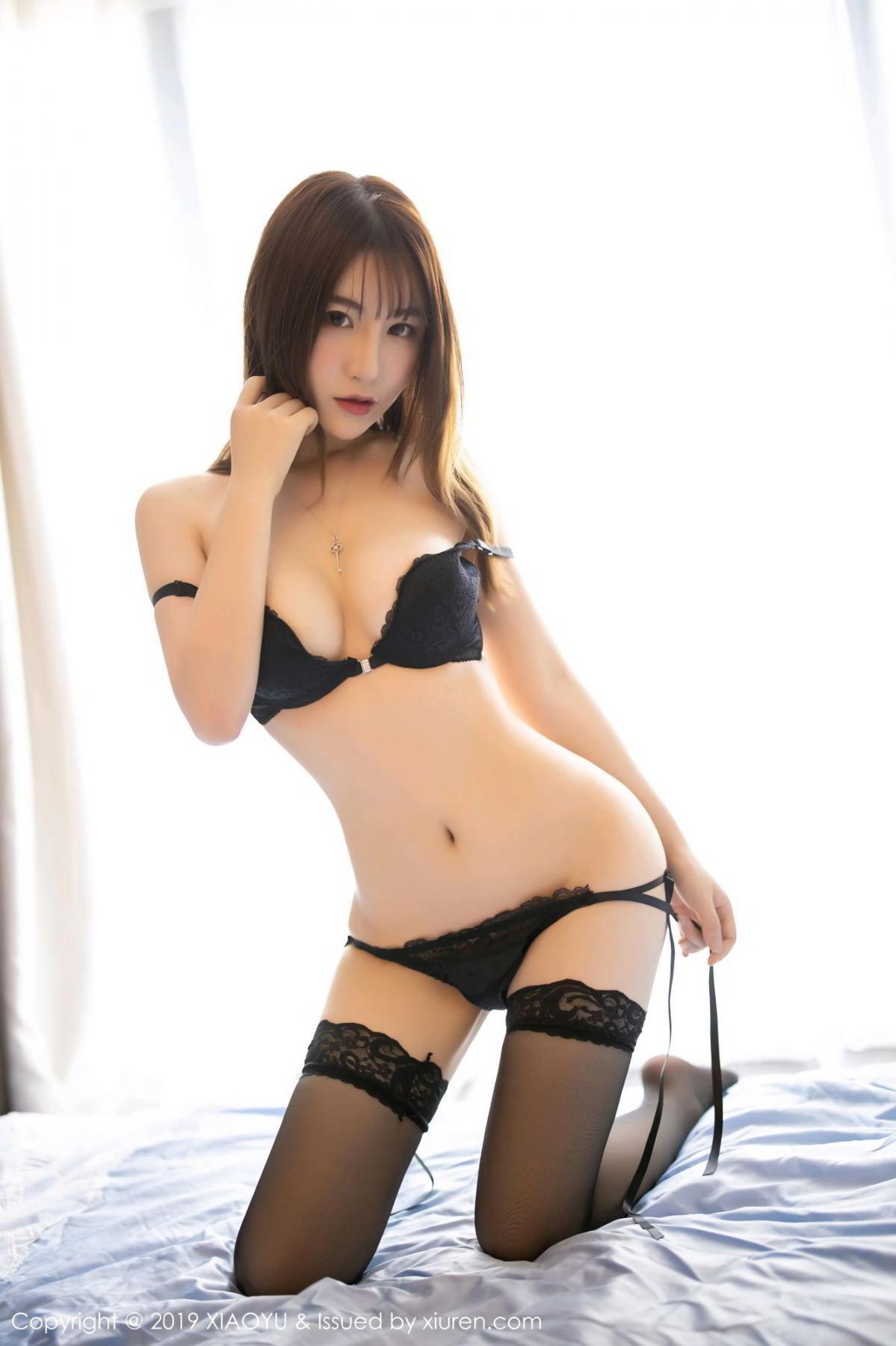 [XiaoYu] Vol.133 Xie Zhi Xin 49P, Black Silk, Tall, XiaoYu, Xie Zhi Xin