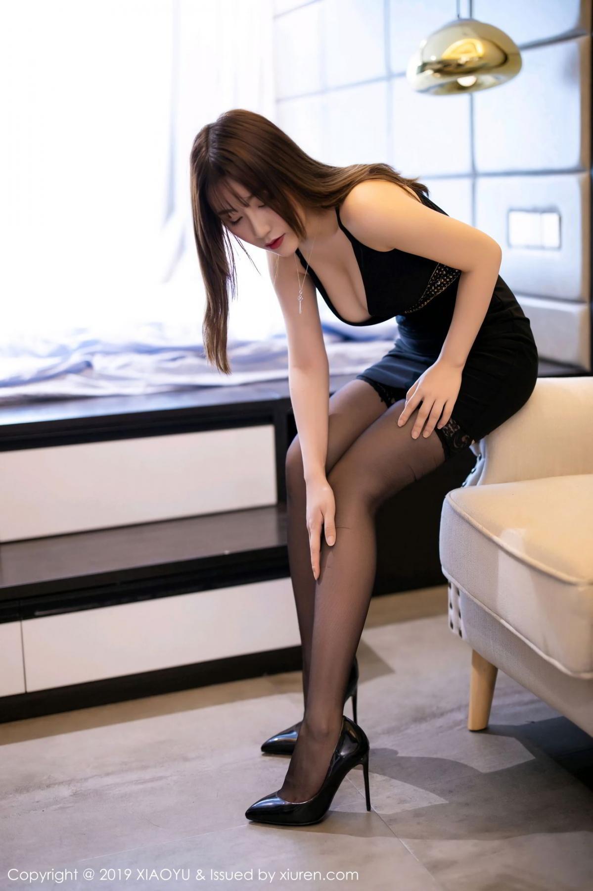 [XiaoYu] Vol.133 Xie Zhi Xin 8P, Black Silk, Tall, XiaoYu, Xie Zhi Xin