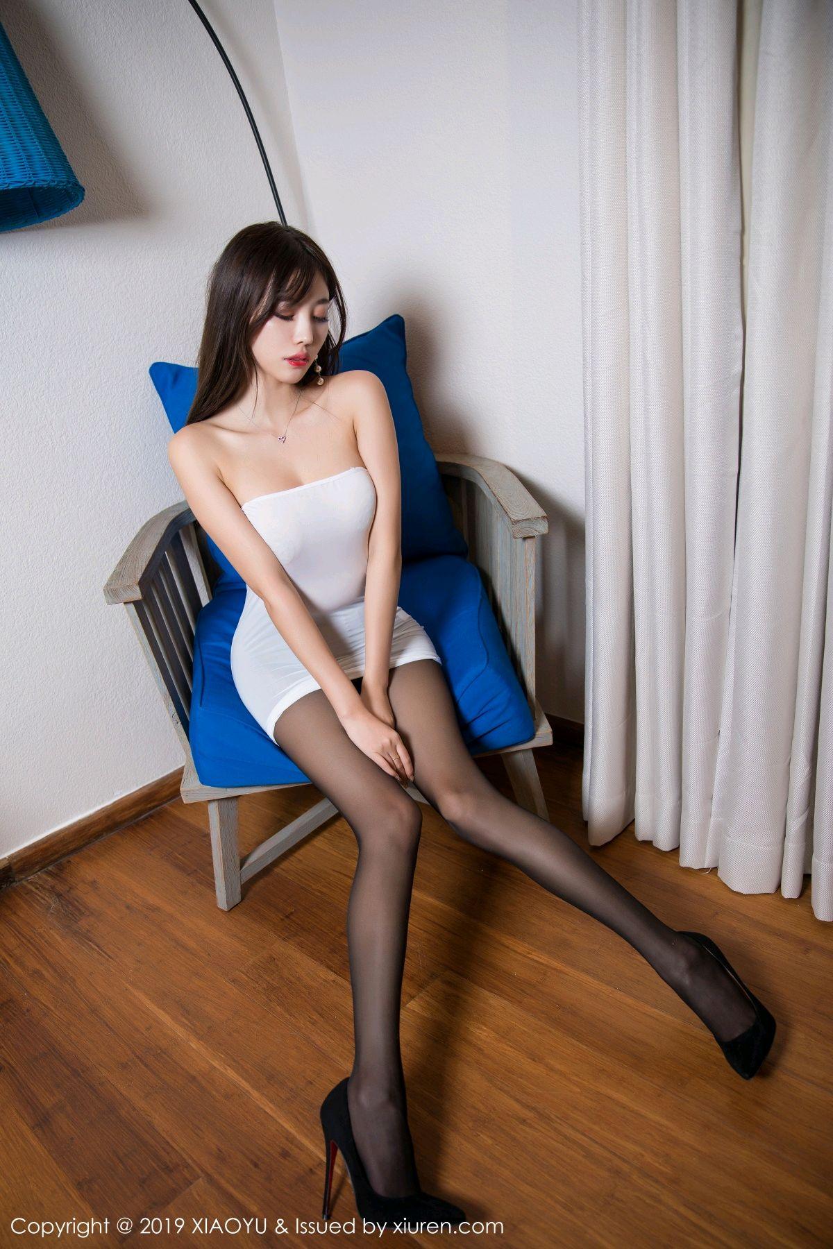 [XiaoYu] Vol.138 Yang Chen Chen 28P, Black Silk, Tall, XiaoYu, Yang Chen Chen