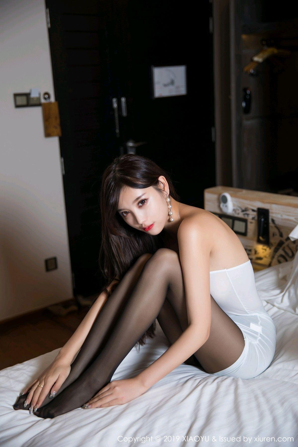 [XiaoYu] Vol.138 Yang Chen Chen 43P, Black Silk, Tall, XiaoYu, Yang Chen Chen
