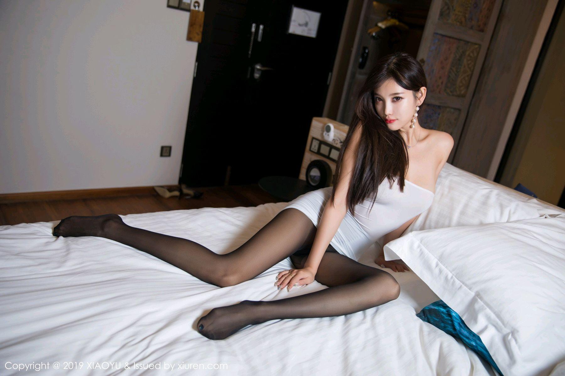 [XiaoYu] Vol.138 Yang Chen Chen 47P, Black Silk, Tall, XiaoYu, Yang Chen Chen