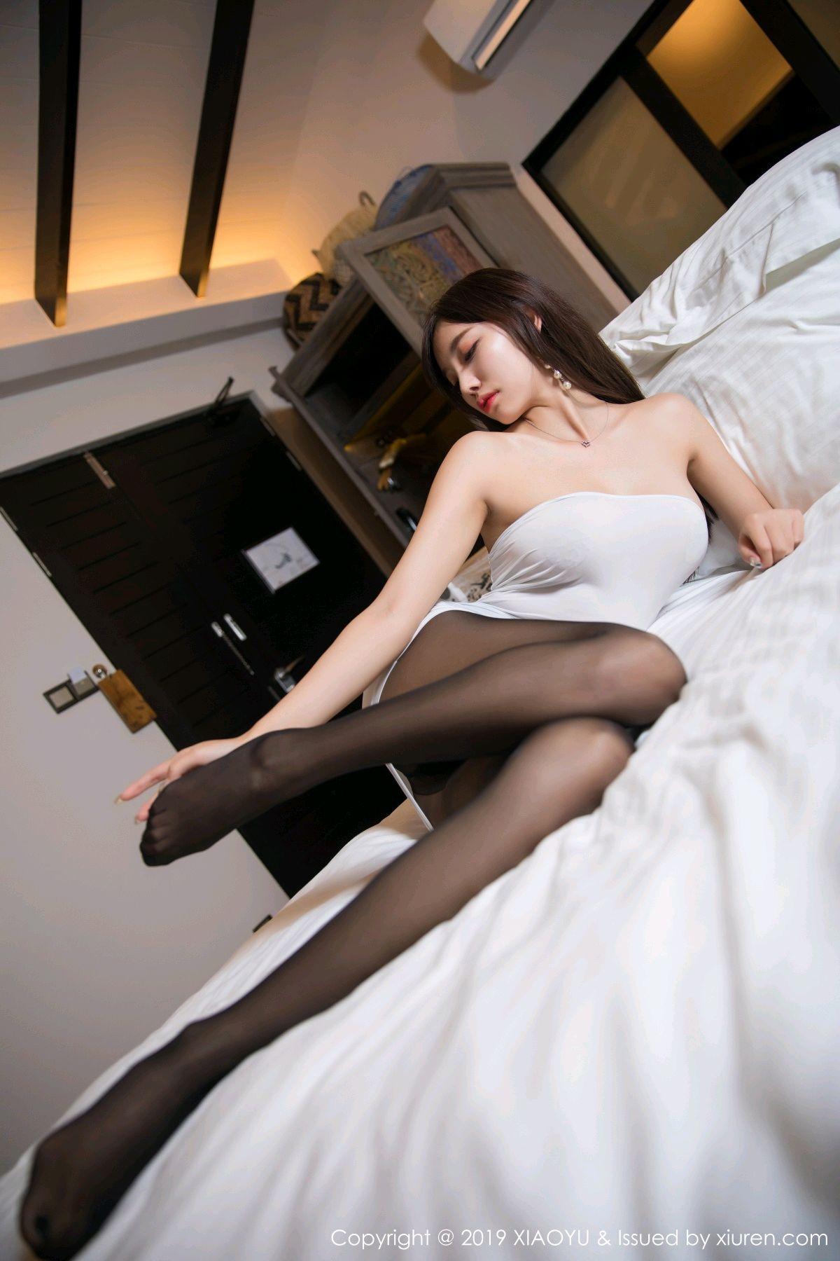 [XiaoYu] Vol.138 Yang Chen Chen 55P, Black Silk, Tall, XiaoYu, Yang Chen Chen