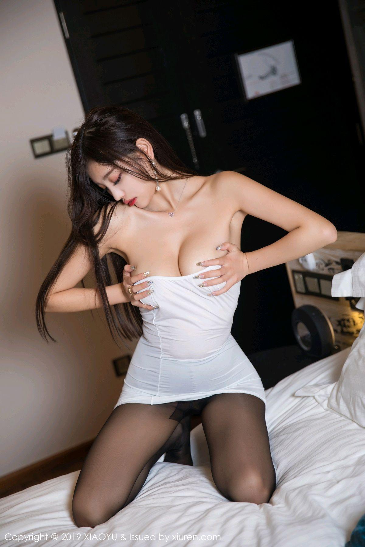 [XiaoYu] Vol.138 Yang Chen Chen 66P, Black Silk, Tall, XiaoYu, Yang Chen Chen