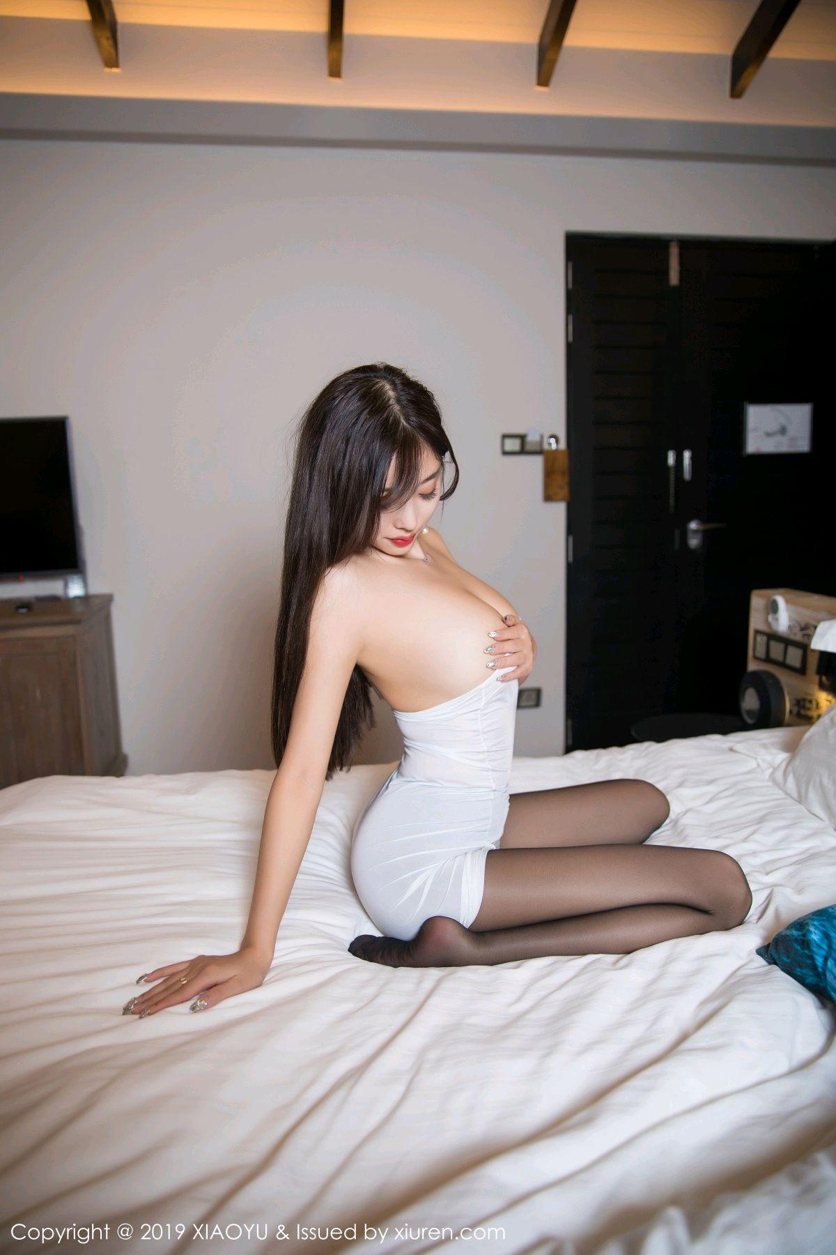 [XiaoYu] Vol.138 Yang Chen Chen 69P, Black Silk, Tall, XiaoYu, Yang Chen Chen