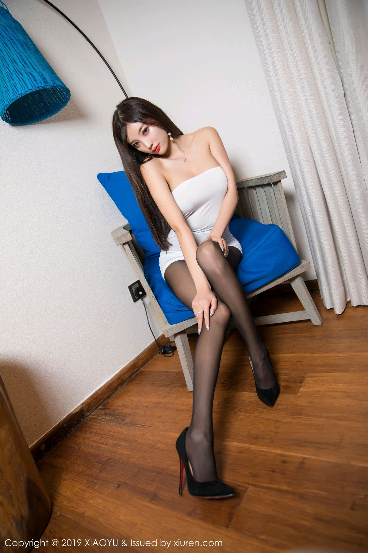 [XiaoYu] Vol.138 Yang Chen Chen 7P, Black Silk, Tall, XiaoYu, Yang Chen Chen