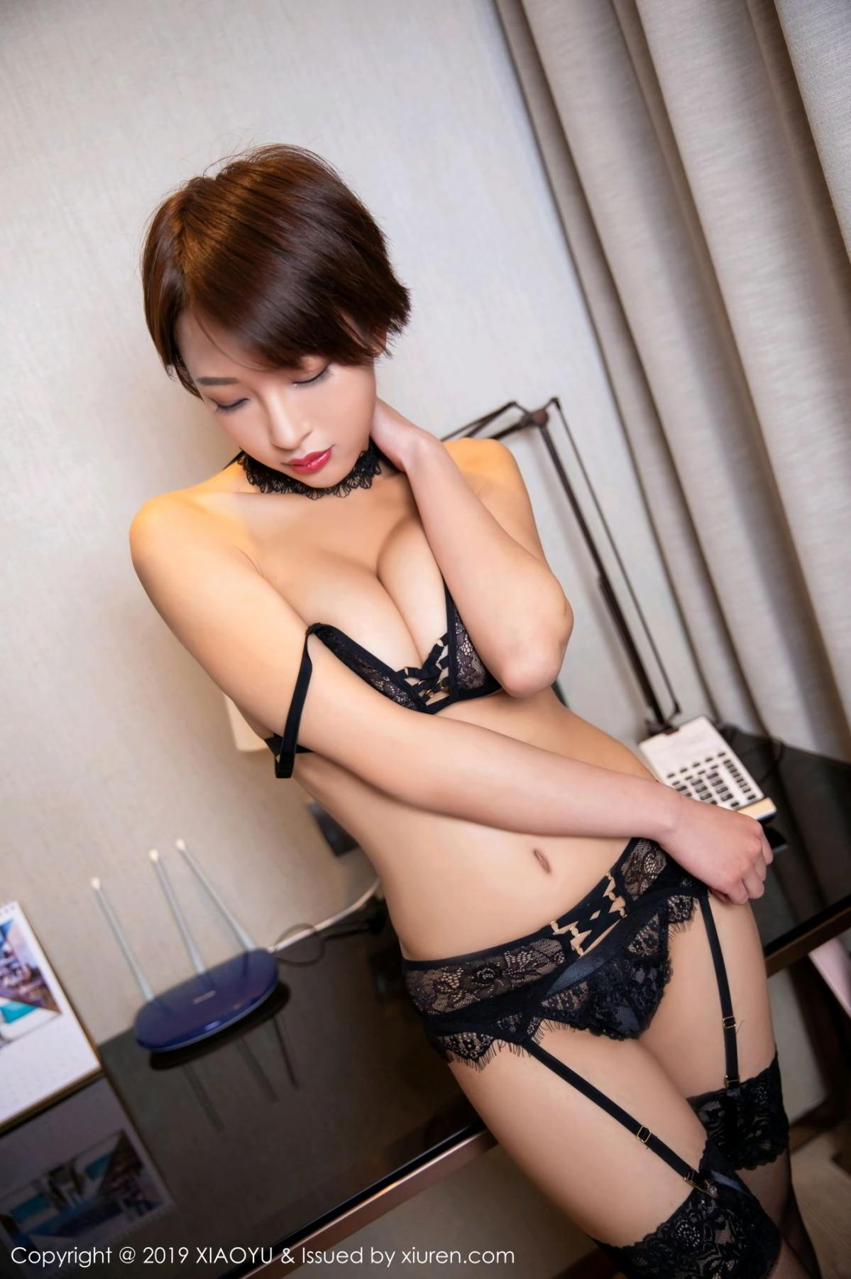 [XiaoYu] Vol.139 Li Zi Riz 18P, Black Silk, Li Zi Riz, Underwear, XiaoYu