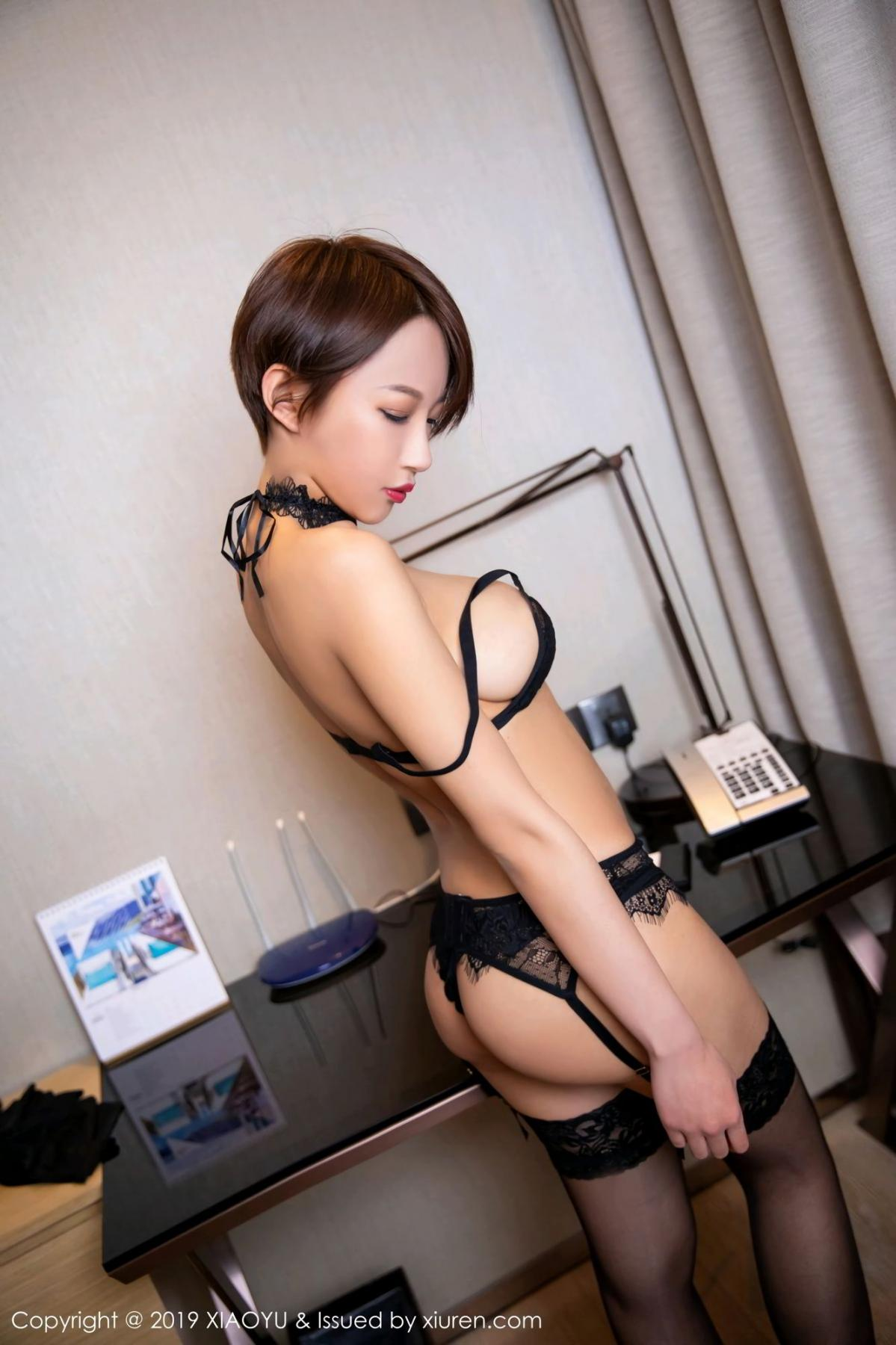 [XiaoYu] Vol.139 Li Zi Riz 19P, Black Silk, Li Zi Riz, Underwear, XiaoYu