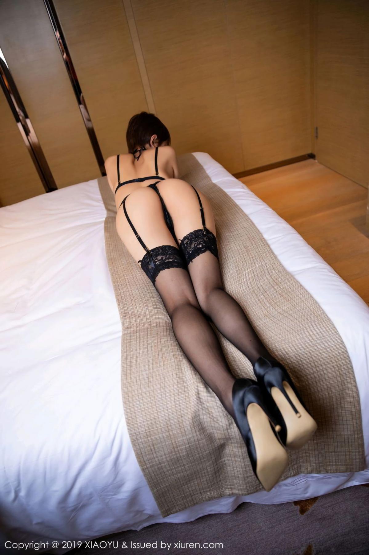 [XiaoYu] Vol.139 Li Zi Riz 22P, Black Silk, Li Zi Riz, Underwear, XiaoYu