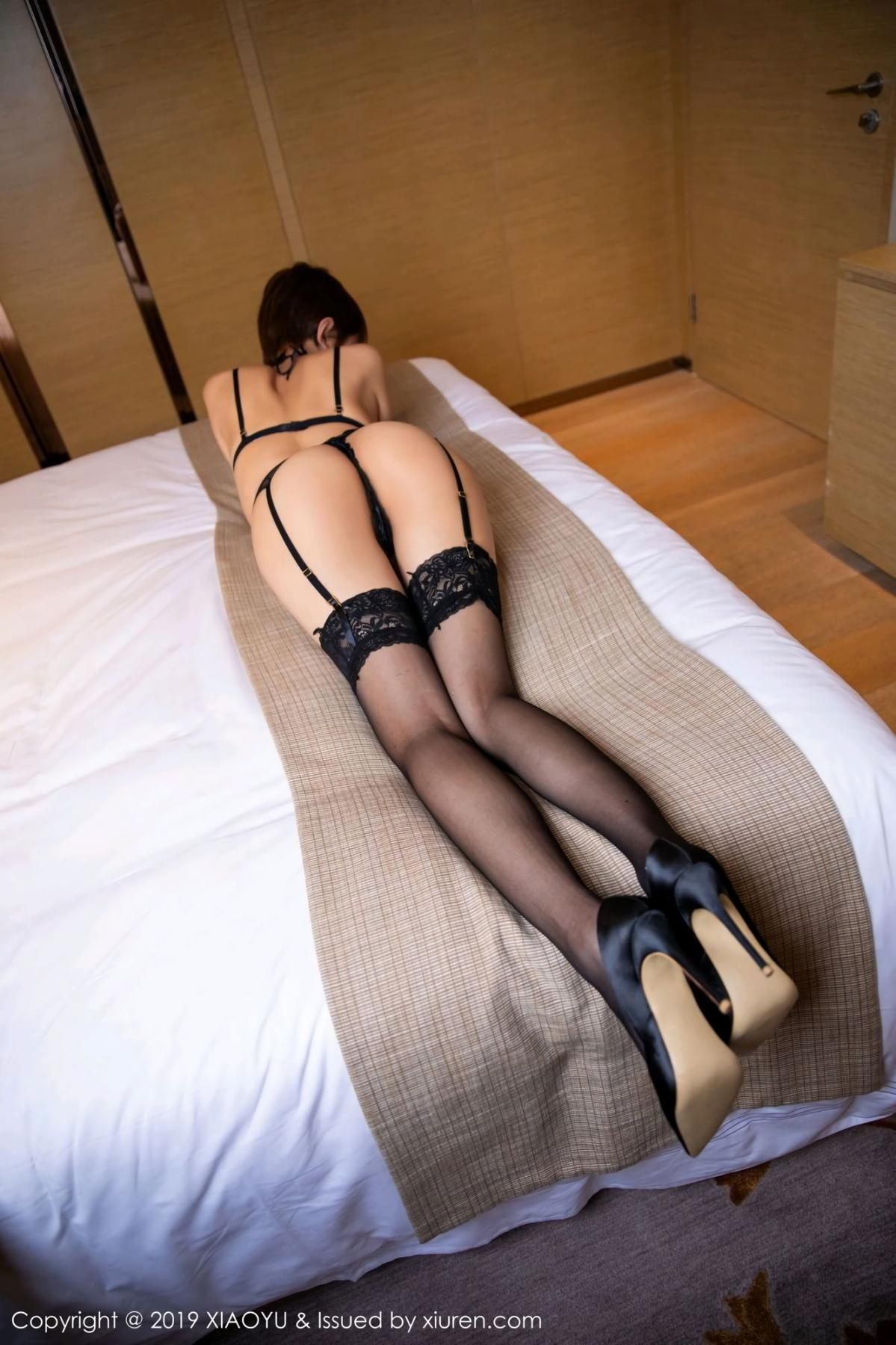 [XiaoYu] Vol.139 Li Zi Riz 23P, Black Silk, Li Zi Riz, Underwear, XiaoYu
