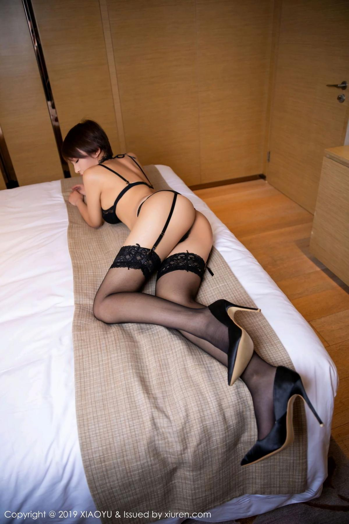 [XiaoYu] Vol.139 Li Zi Riz 24P, Black Silk, Li Zi Riz, Underwear, XiaoYu