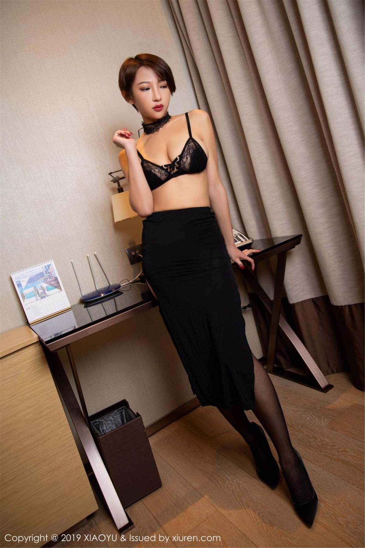 [XiaoYu] Vol.139 Li Zi Riz 26P, Black Silk, Li Zi Riz, Underwear, XiaoYu