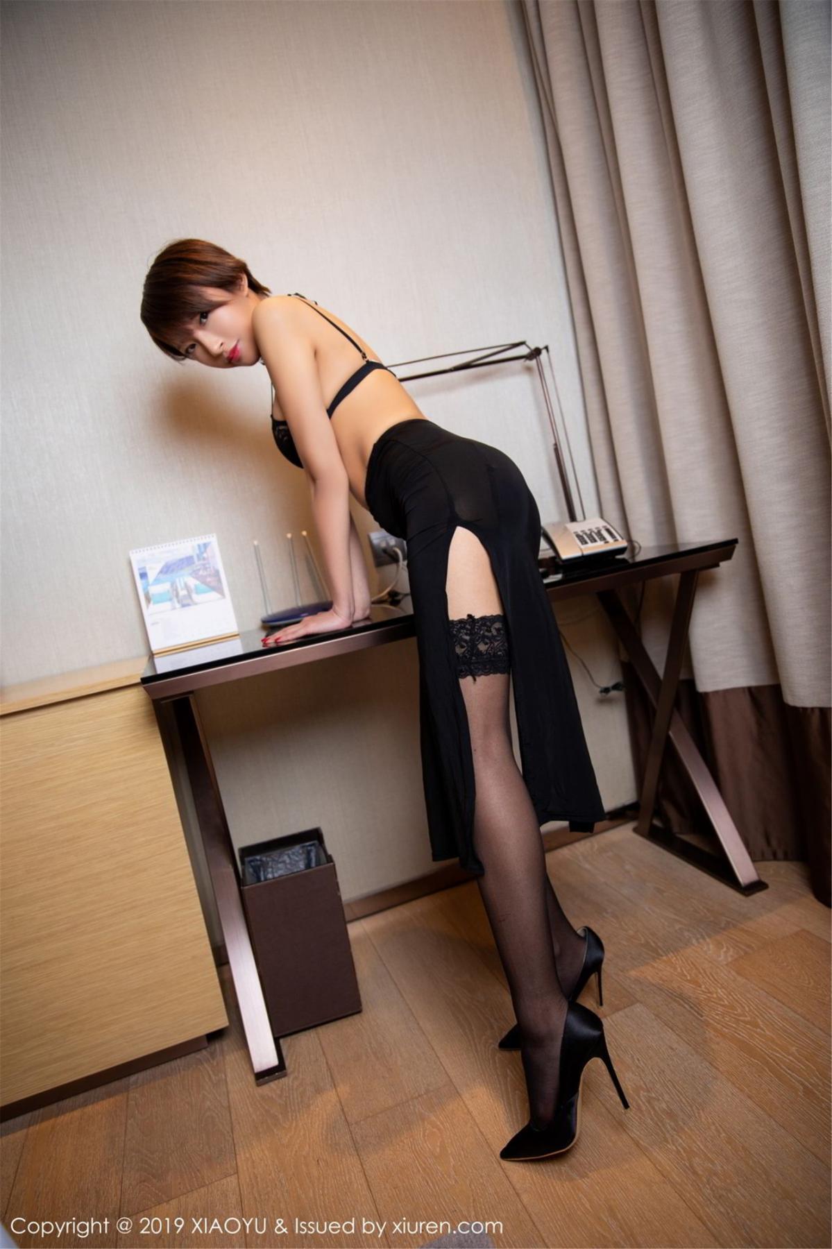 [XiaoYu] Vol.139 Li Zi Riz 27P, Black Silk, Li Zi Riz, Underwear, XiaoYu