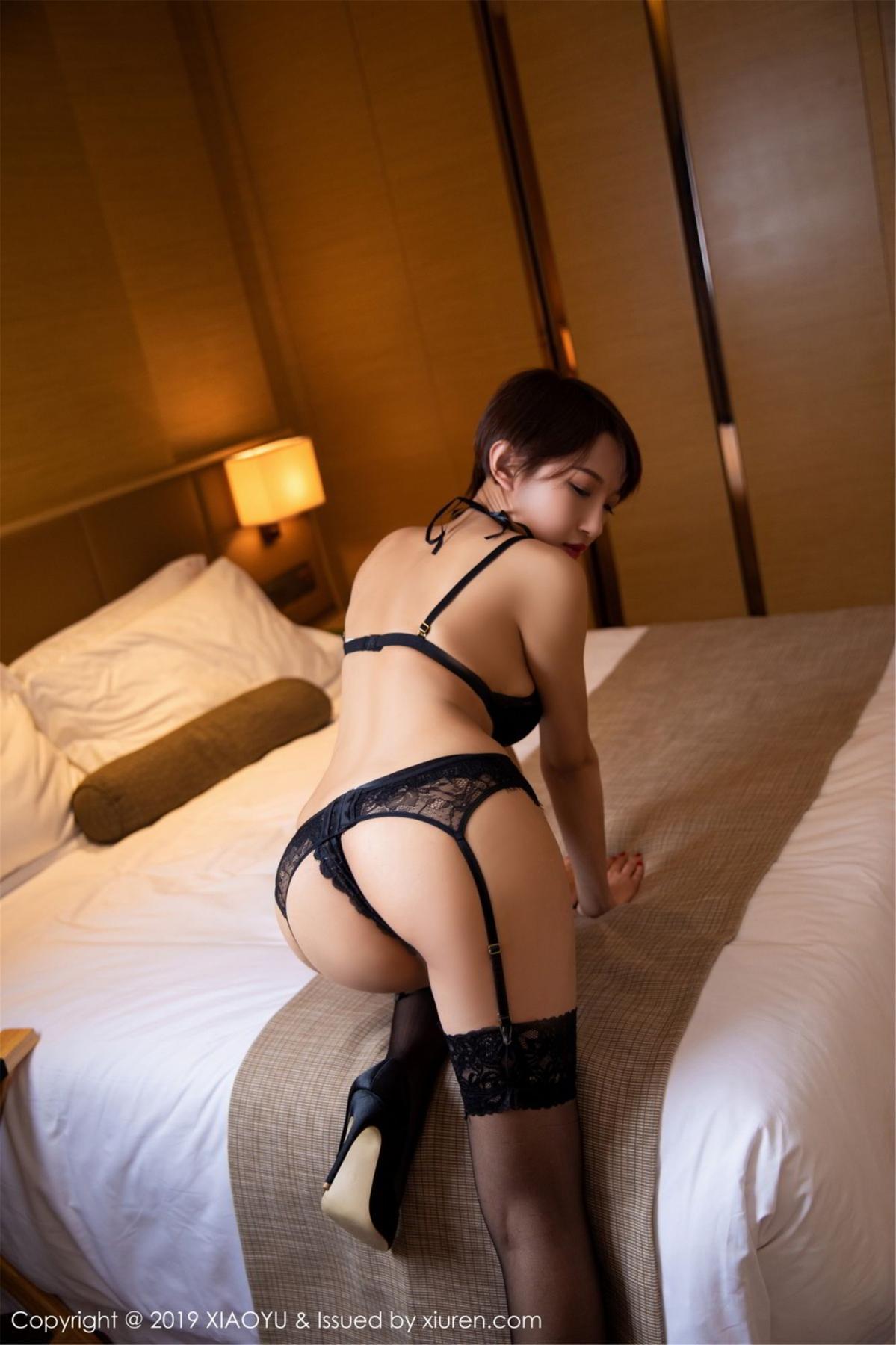 [XiaoYu] Vol.139 Li Zi Riz 36P, Black Silk, Li Zi Riz, Underwear, XiaoYu