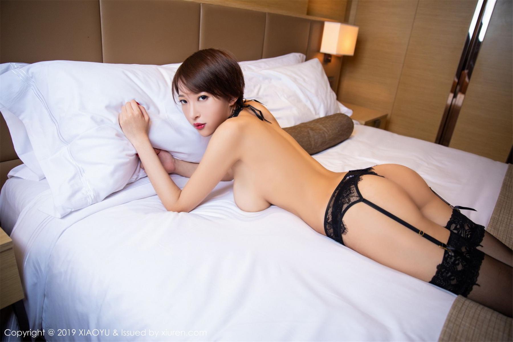 [XiaoYu] Vol.139 Li Zi Riz 38P, Black Silk, Li Zi Riz, Underwear, XiaoYu