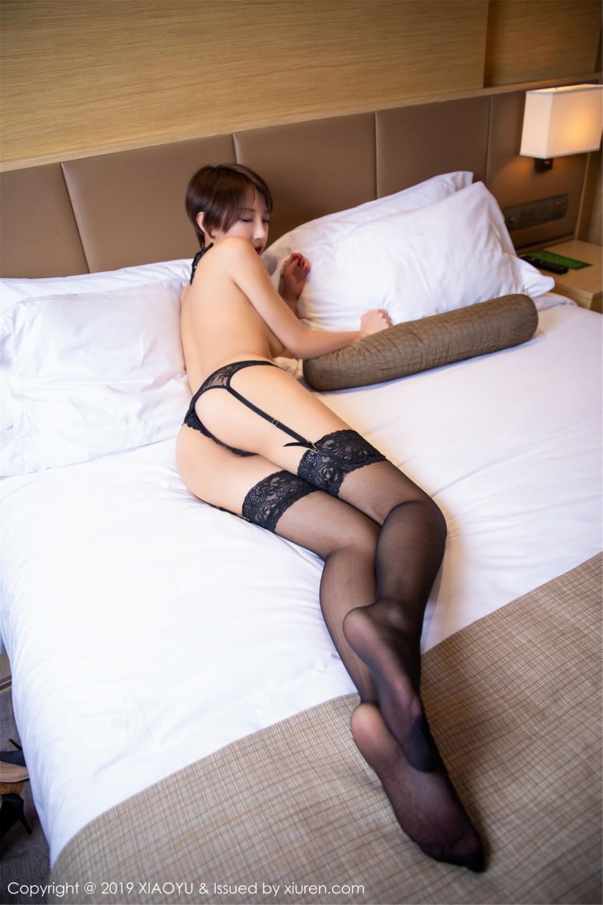 [XiaoYu] Vol.139 Li Zi Riz 43P, Black Silk, Li Zi Riz, Underwear, XiaoYu
